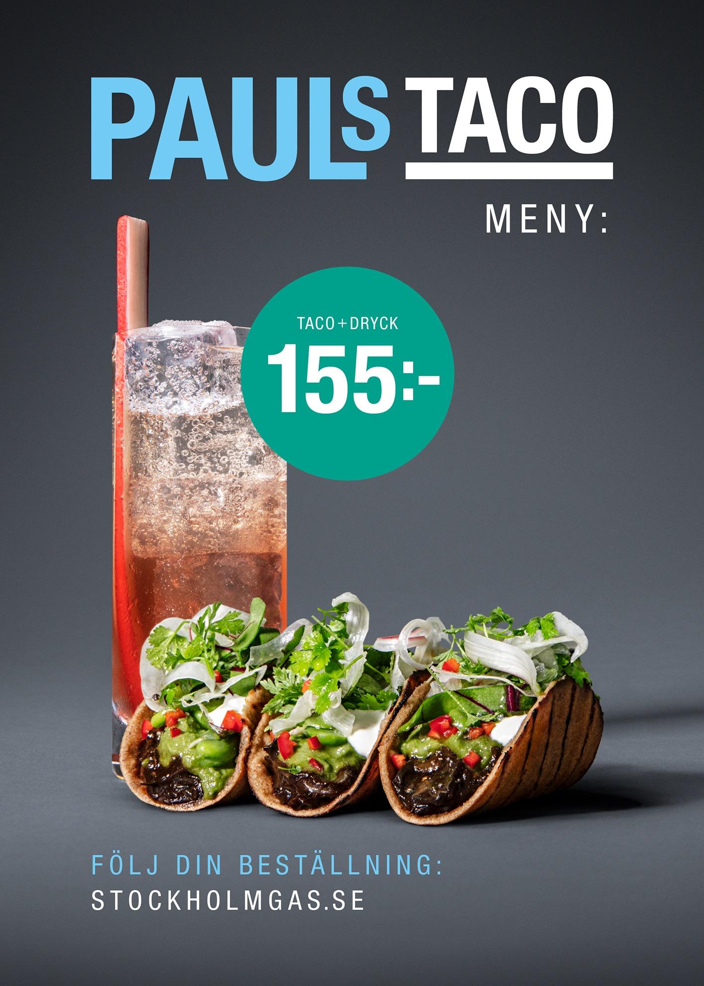 Gatukökets huvudrätt: Pauls taco