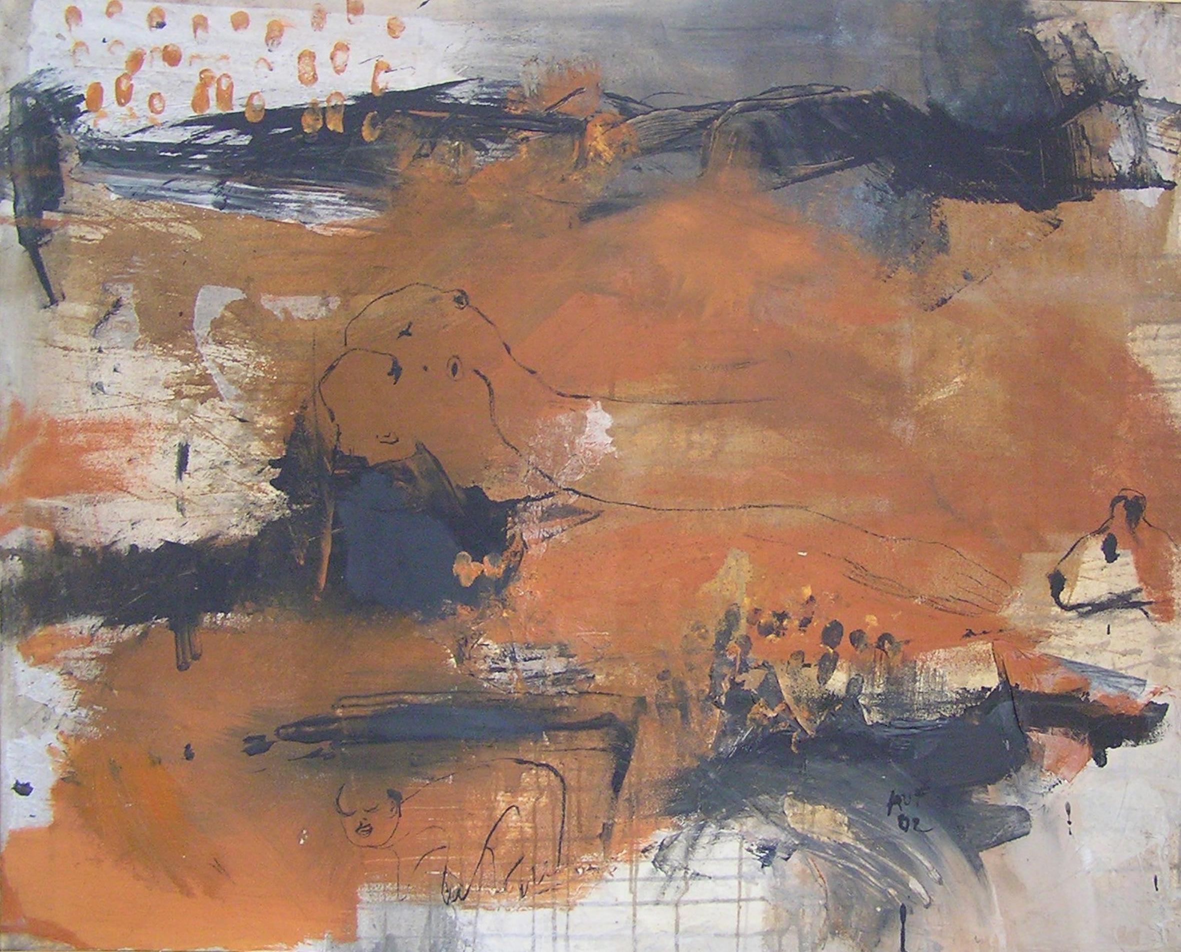 NATALIA AUFFRAY   Su pintura se desarrolla con 3 constantes: bodegones, abstrACCIONES y seres. Artista multidisciplinar, incluye herramientas diversas como agujas y telas, naturaleza intervenida y apuntes a través de una cámara para traducir el mundo y convertirlo en un lugar habitable.     view more...