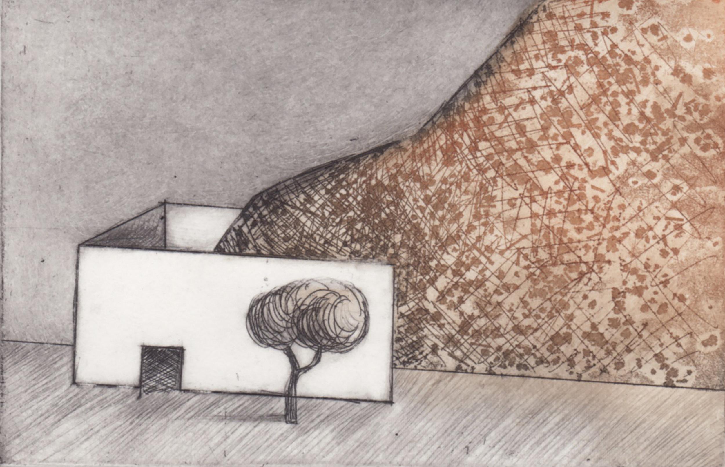 Casa con montaña_María Alvarez_30x40_Aguafuerte, barnizando y punta seca_121.jpg