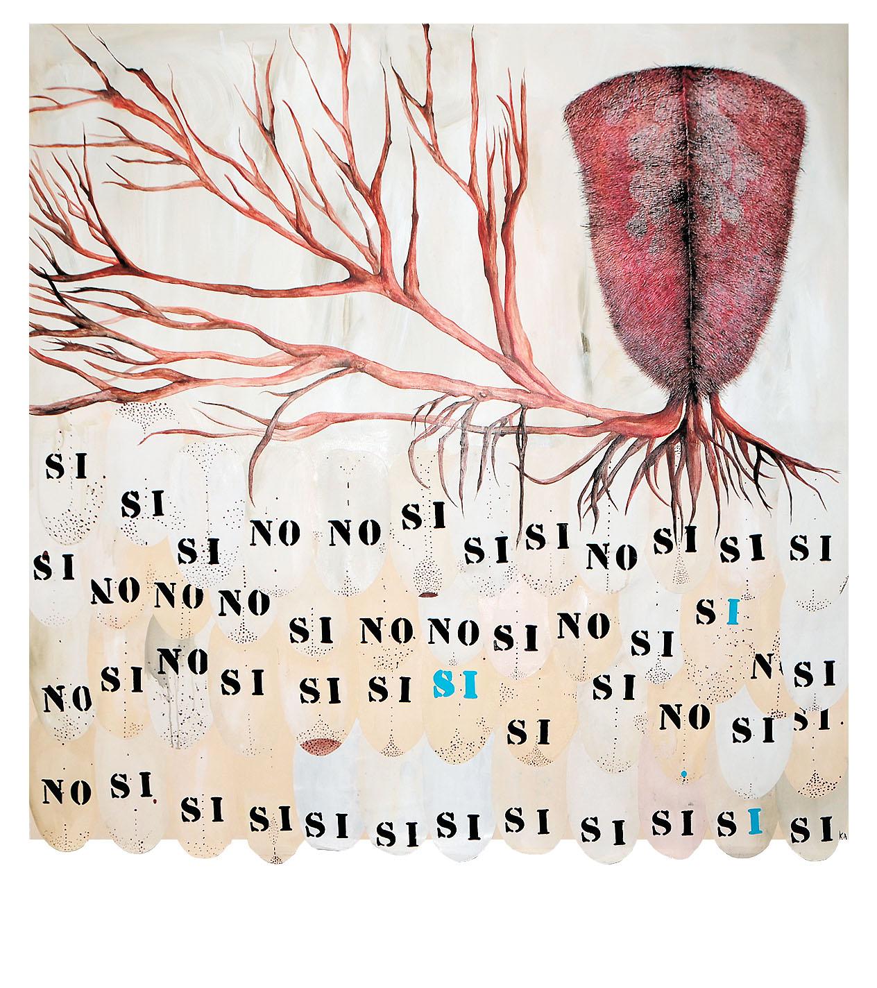 KAULIP ÁLVAREZ   Kaulip Álvarez es una artista que investiga mediante diversas disciplinas la implicación emocional del público con sus obras, por eso suele evocar situaciones, recuerdos, miedos, sueños y percepciones que nos atrapan en su onírico mundo. Su iconografía está impregnada de símbolos característicos y está realizada con imágenes luminosas y, aparentemente, inocuas aunque, como saben los lectores de cuentos, no todo es lo que parece.     view more...