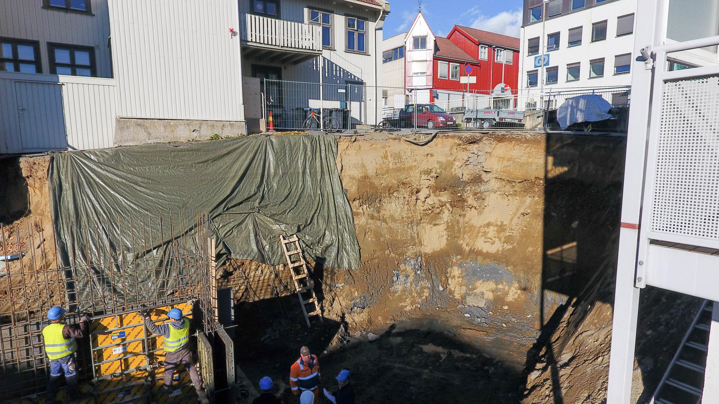 Nybygg i bakgården på Kirkegata 55.