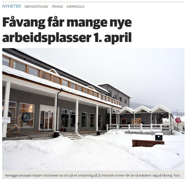 Ny rørlegger og kafédriver på Fåvang! -