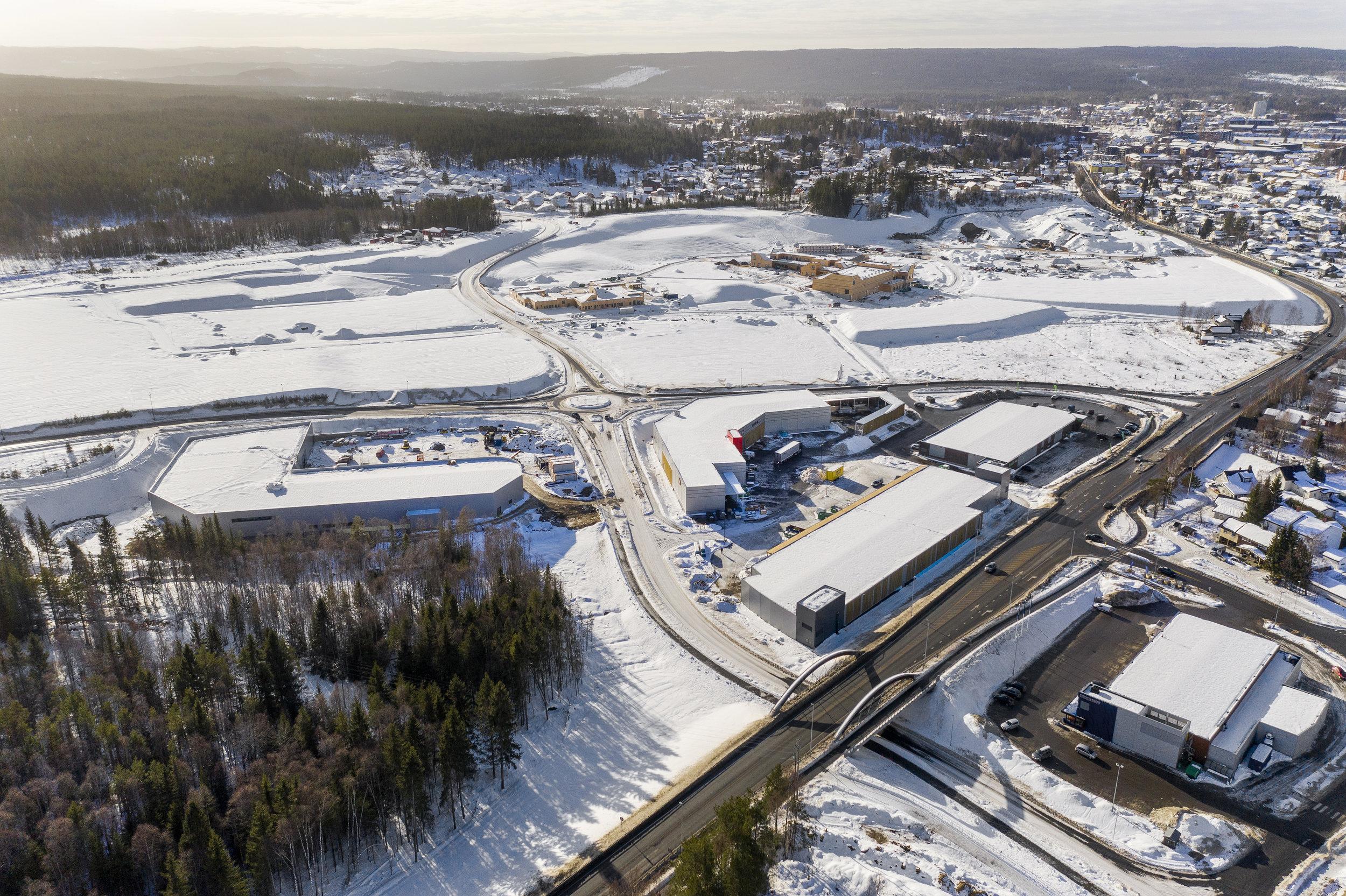 Elverum Handelspark. Foto: Akershus Eiendom.