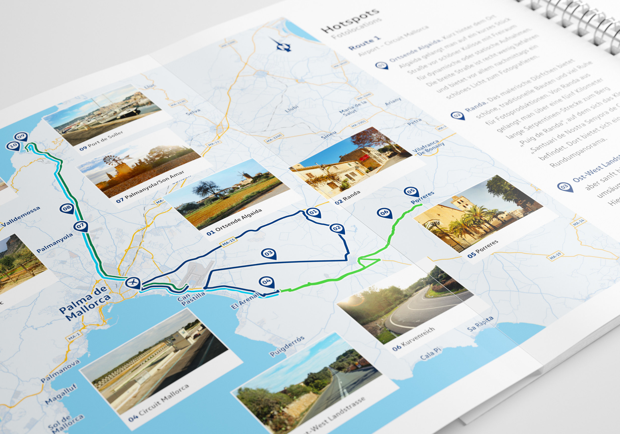 Karten und Routen inkl. Fotolocations