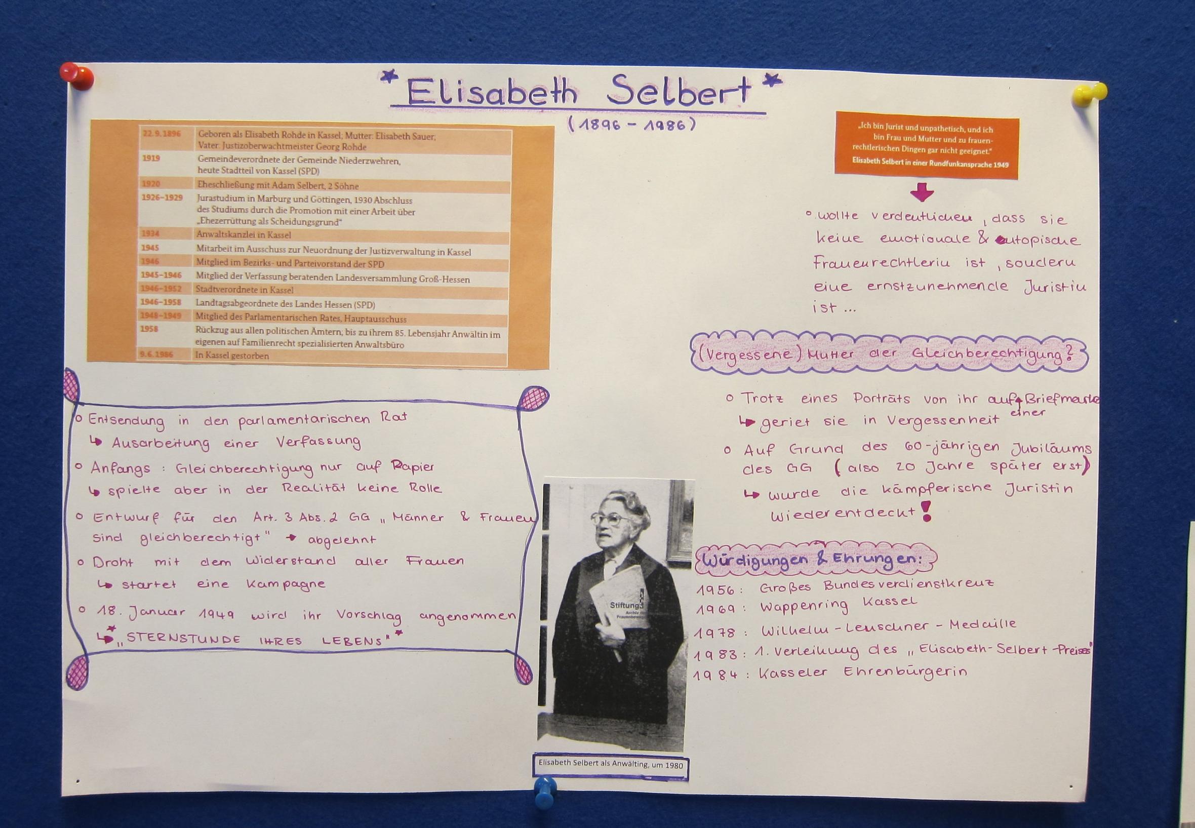 Elisabeth Selbert, eine der Mütter des Grundgesetzes
