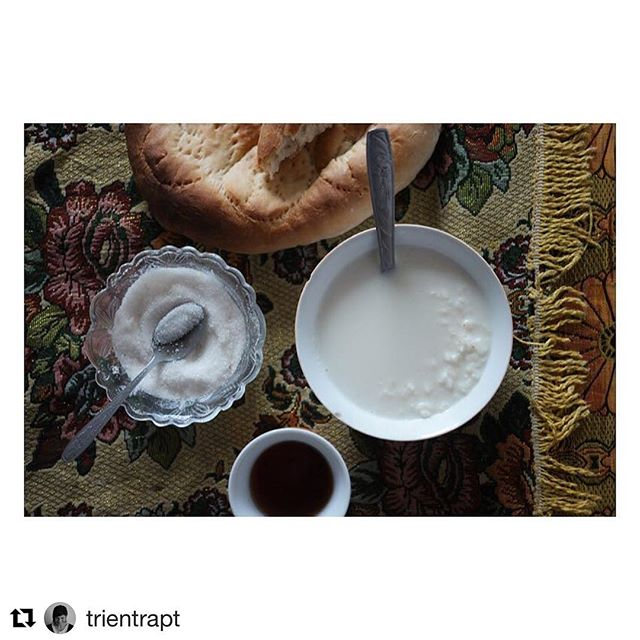 📷 @trientrapt ・・・ Sleeping in a homestay means breakfast is served, olé! No porridge but rice milk, chai and bread instead #yumyum #luxury #foodlover #pamir #tajikistan #visitpamirs #pecta . . For any travel-info . ➡️ www.visitpamirs.com #bikepacking #pdgbikestore #bicycletouring #adventurecycling #worldbybike #cycletouring #bikewander #bikelife #bikingadventures #biking #mtb #touringrouteslikethese #nomadlife #outsideisfree #exploremore #bunyanvelo #boneshakermag #cyclingadventures #instagramoftheday #travelphotography #foodphotography