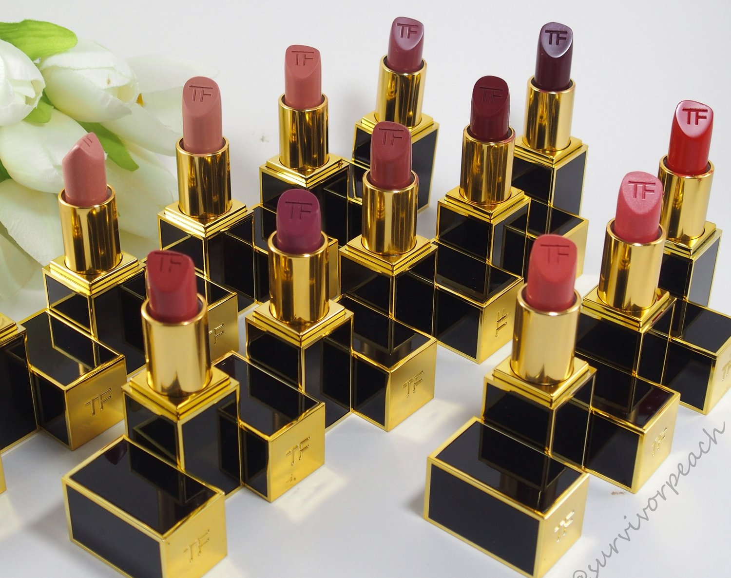 Complete Tom Ford lipsticks collection