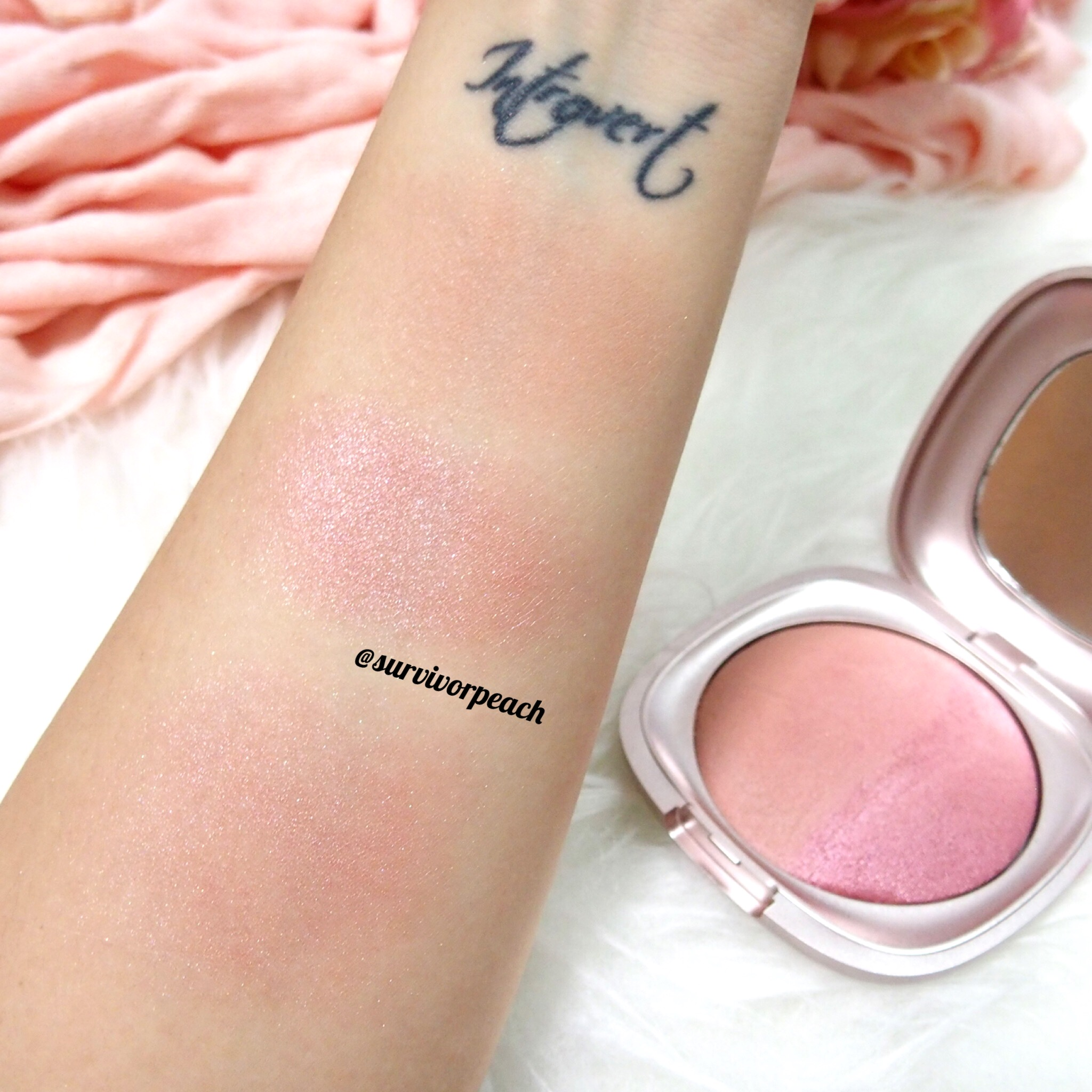 Swatches for Kiko Summer 2.0 Baked Blush