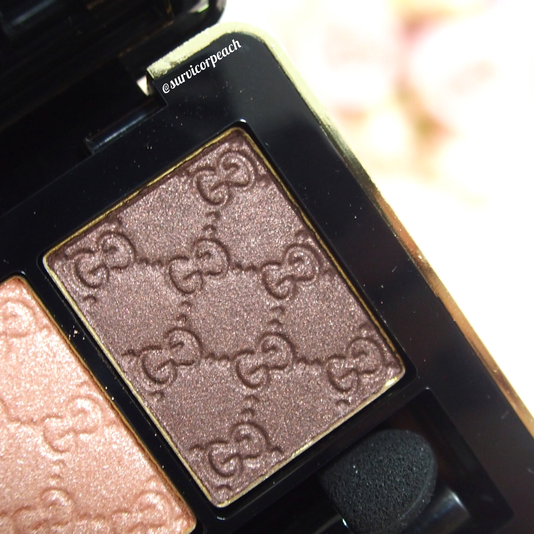 Gucci Amaretto Magnetic Color Shadow Duo - right (in artificial light)