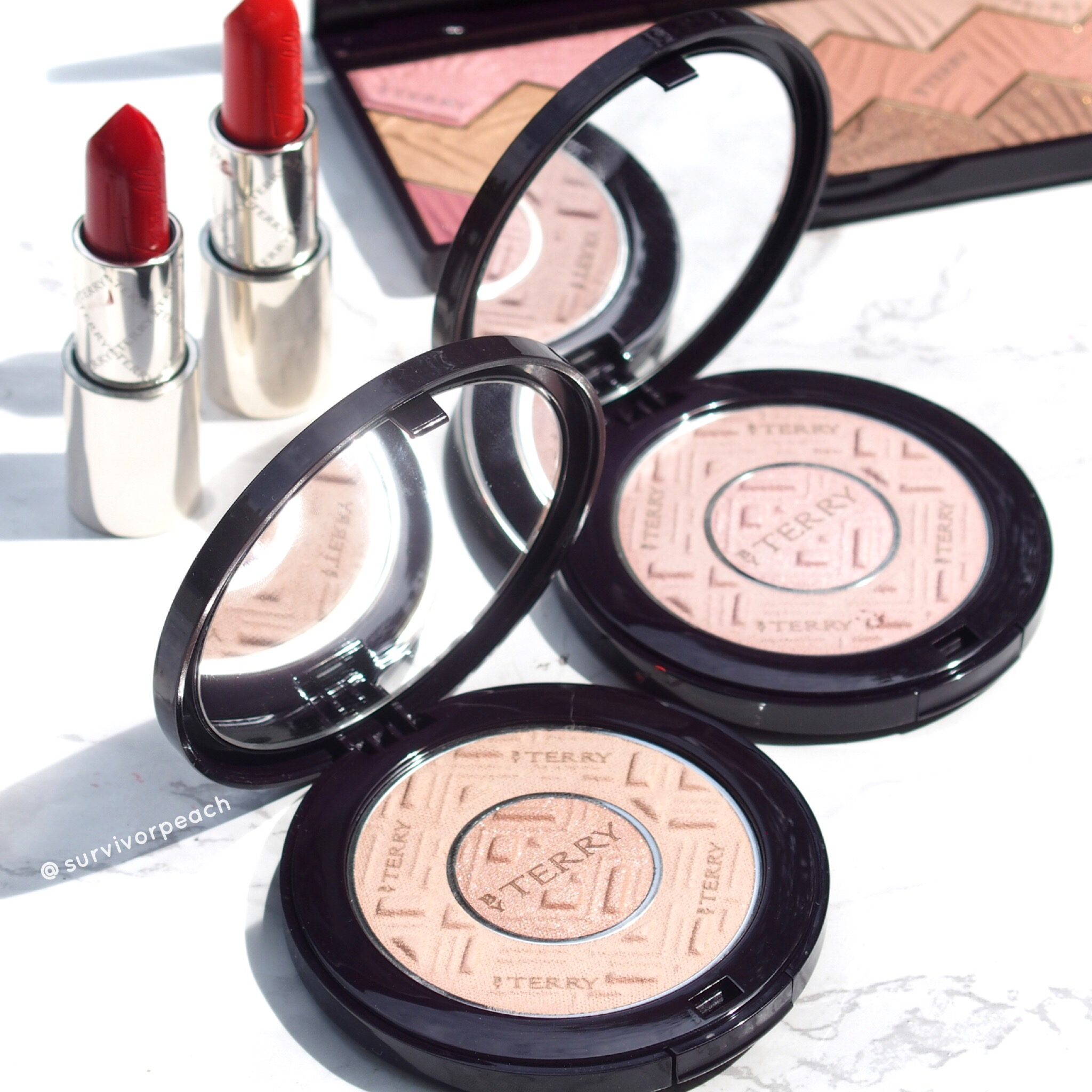 ByTerry Compact-Expert Dual Powder in Rosy Flush and Apricot Glow!