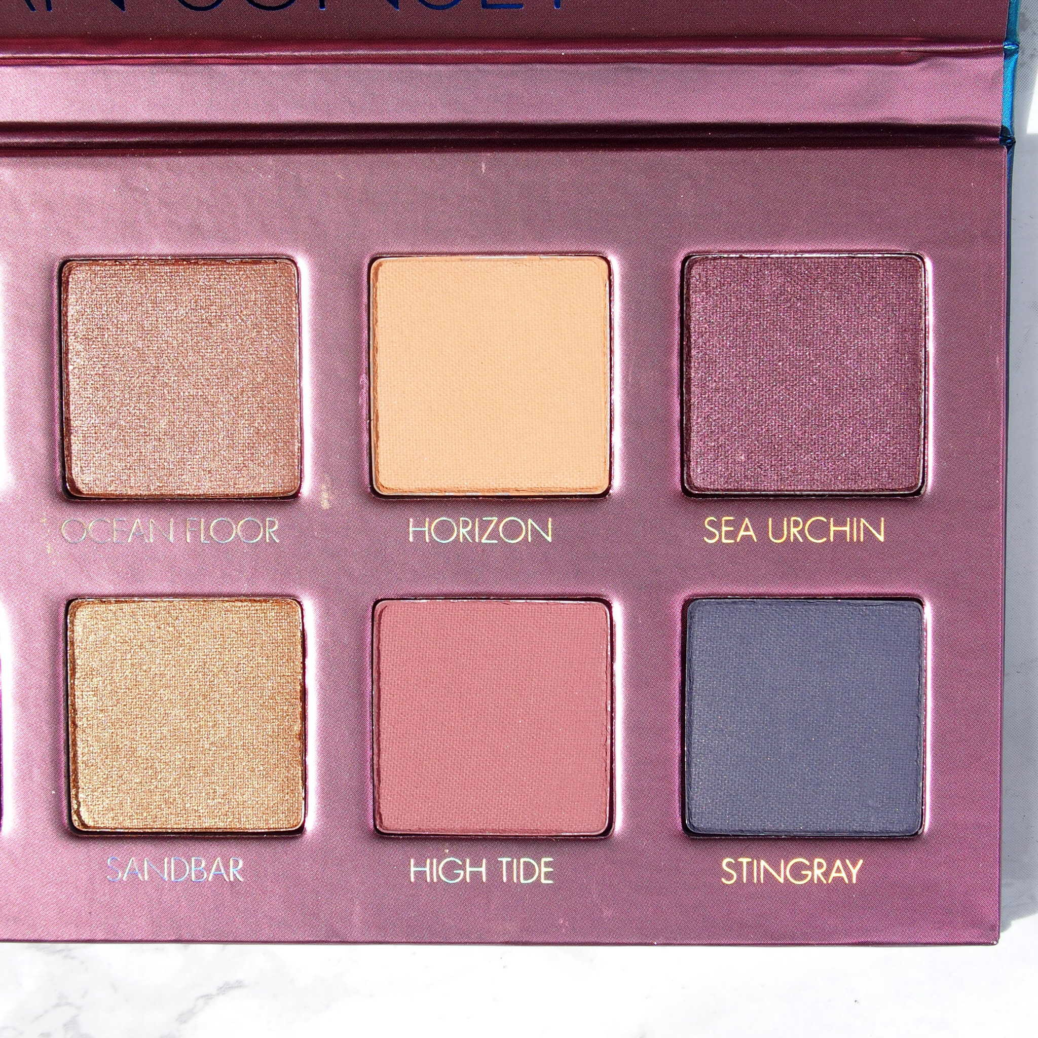Right side of the Lorac Sunset Upzipped Palette