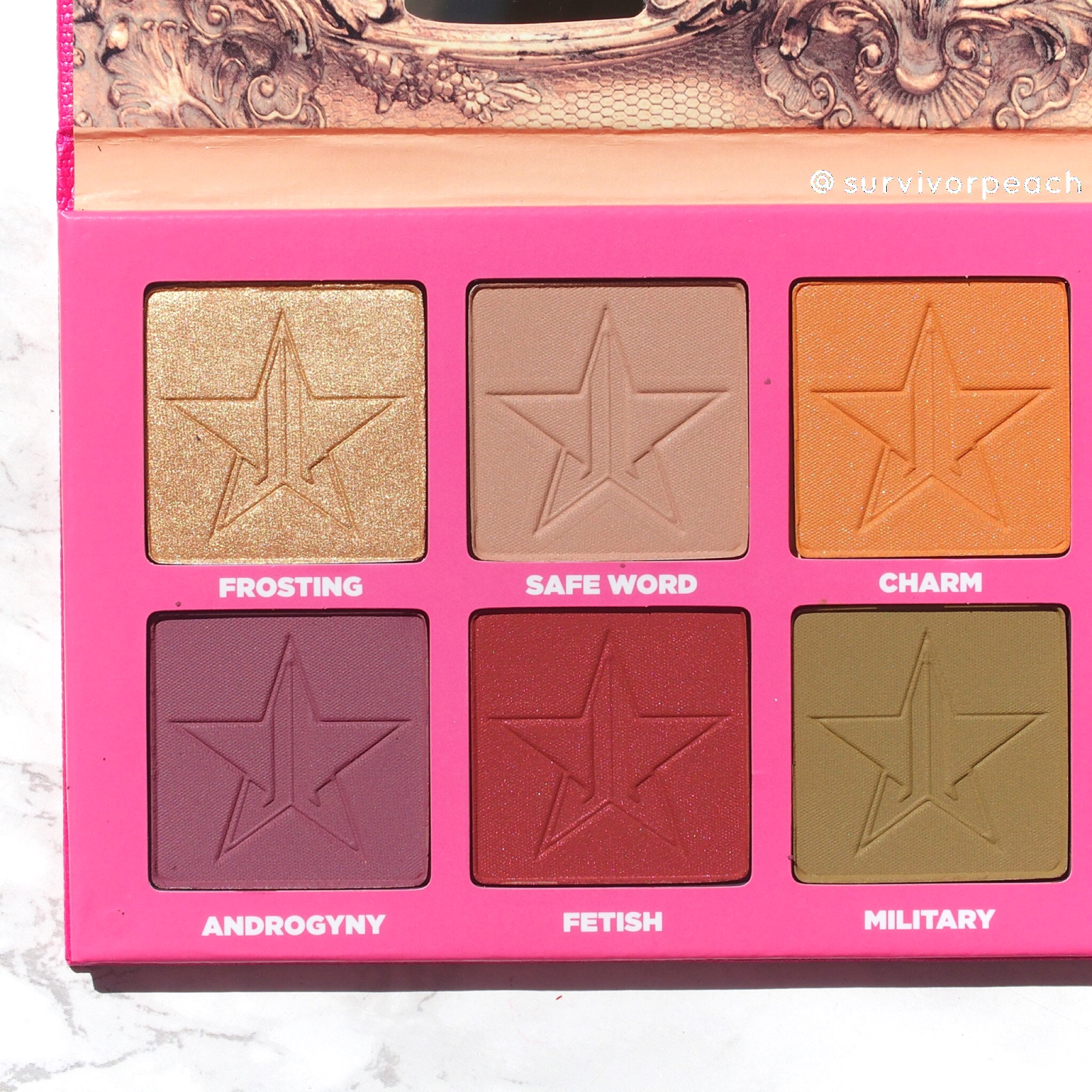 Left side of the androgyny palette