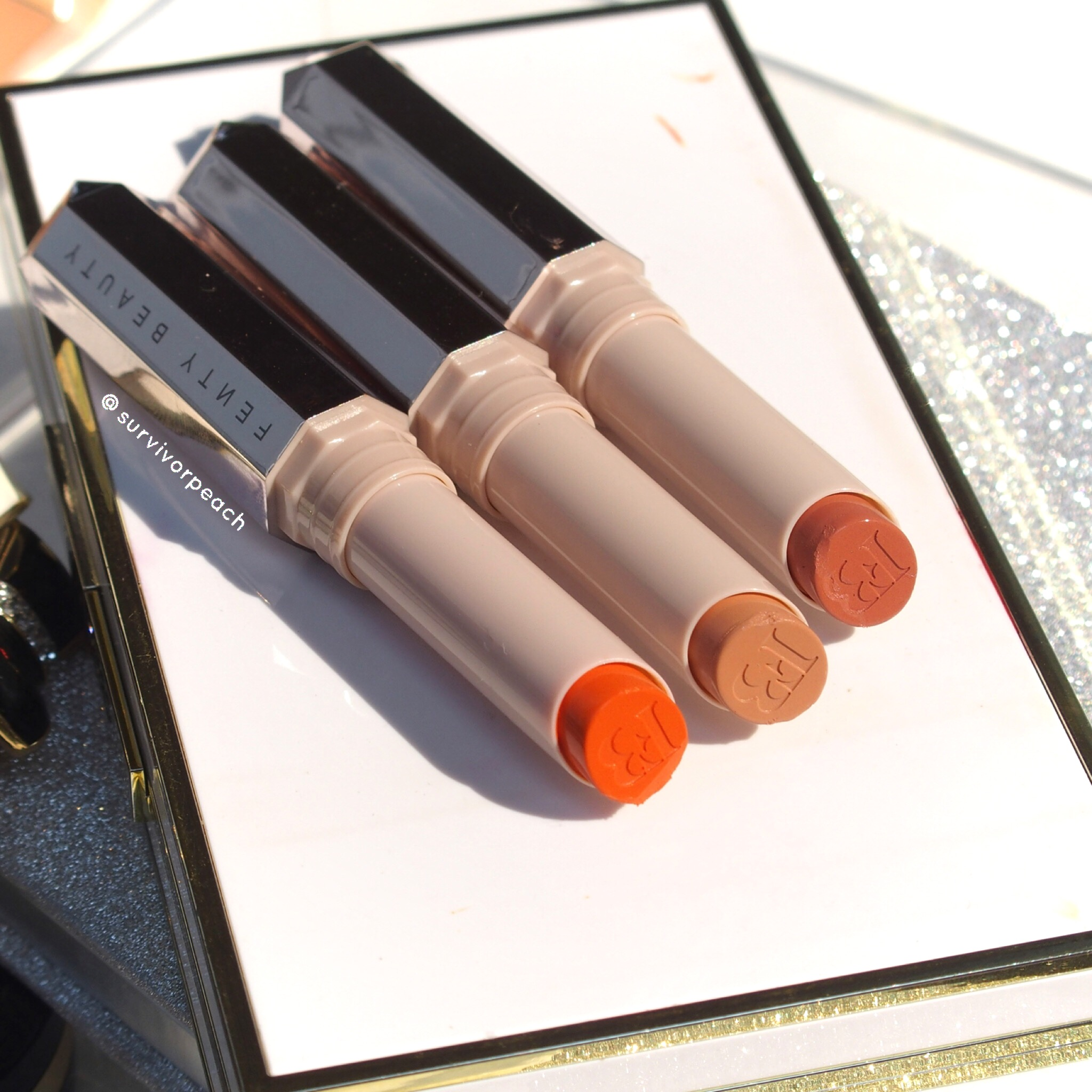 Fenty Beauty Mattemoiselle Lipsticks shade Saw C, Up To No Good, S1ngle