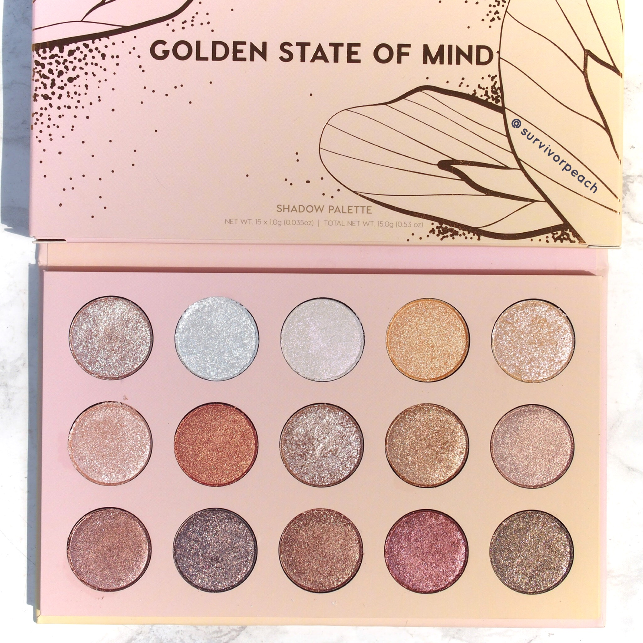 Golden State of Mind palette