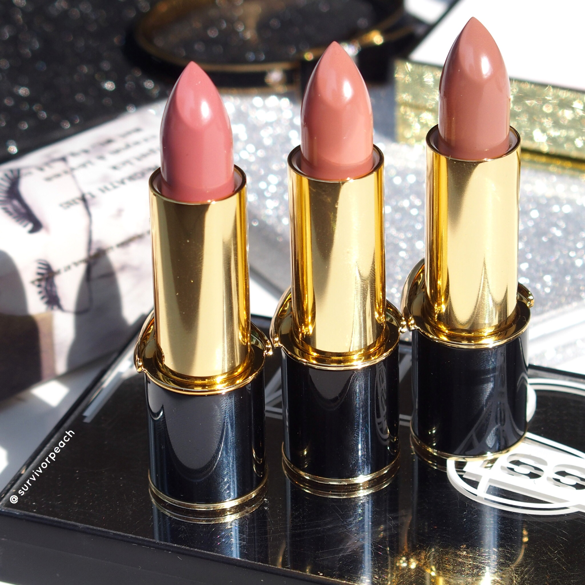 Pat McGrath Labs Luxe Trance Lipsticks in shades Donatella, Valetta, Sextrology