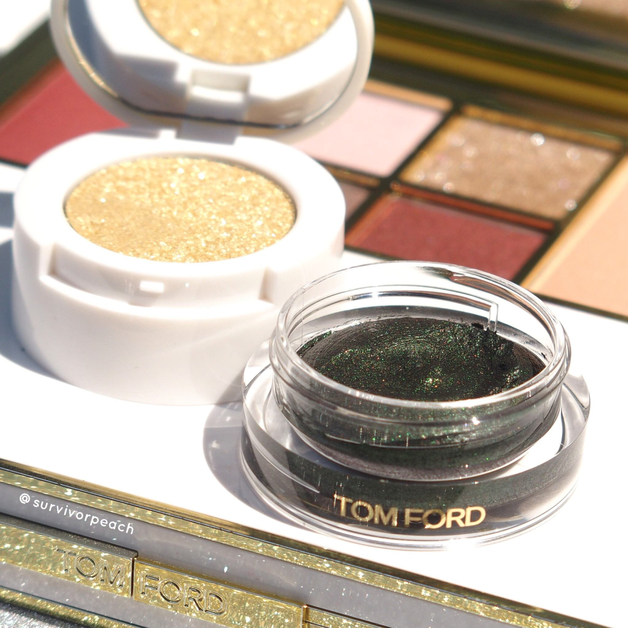 Tomford Cream to Powder eyeshadow duo in shade Emerald Isles