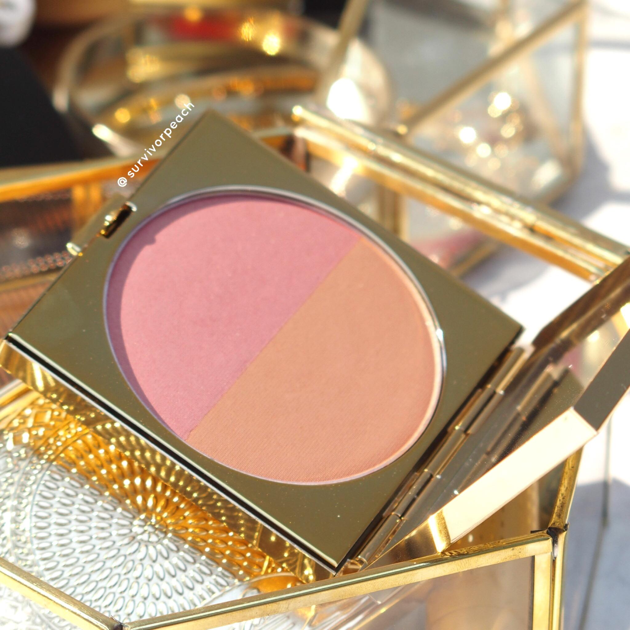 MACxPadma collection powder blush duo Melon Pink