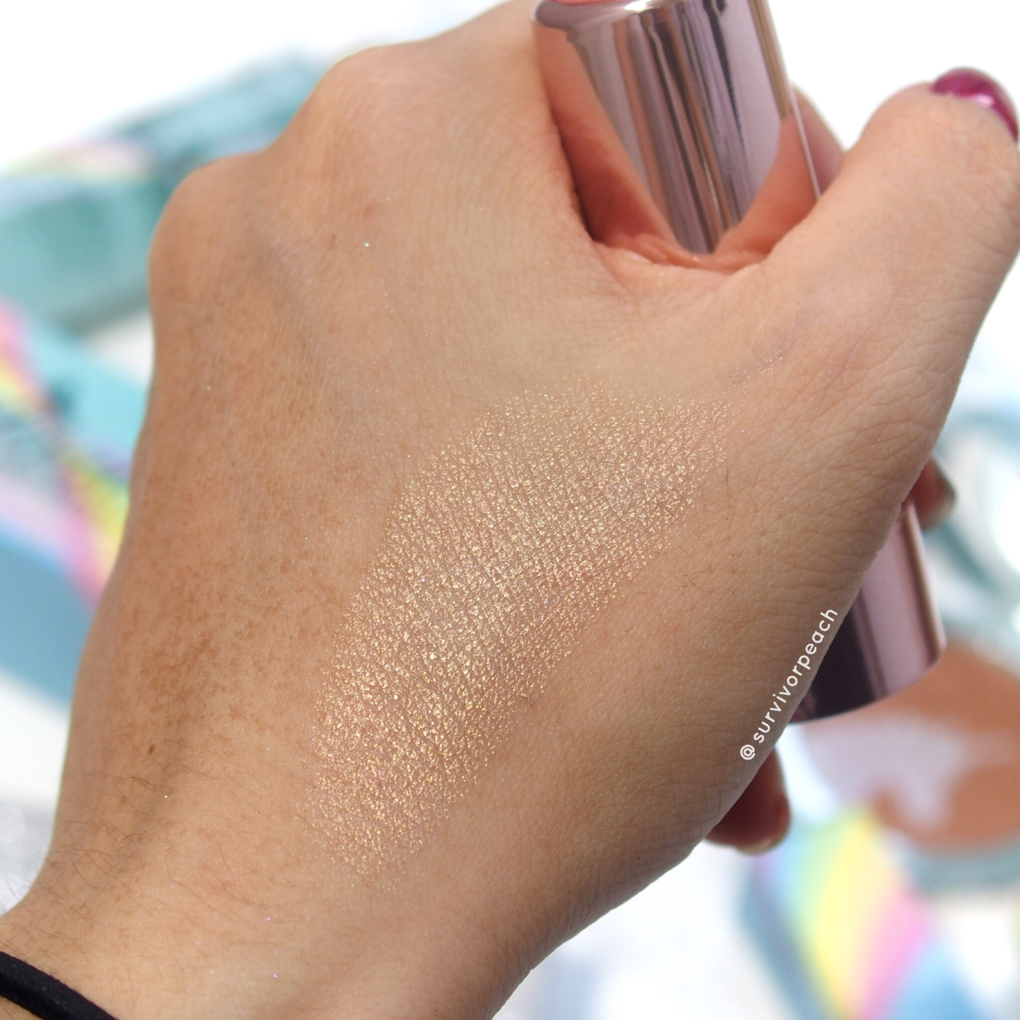 Toofaced Unicorn Horn Mythical Effects Highlighting Stick swatches