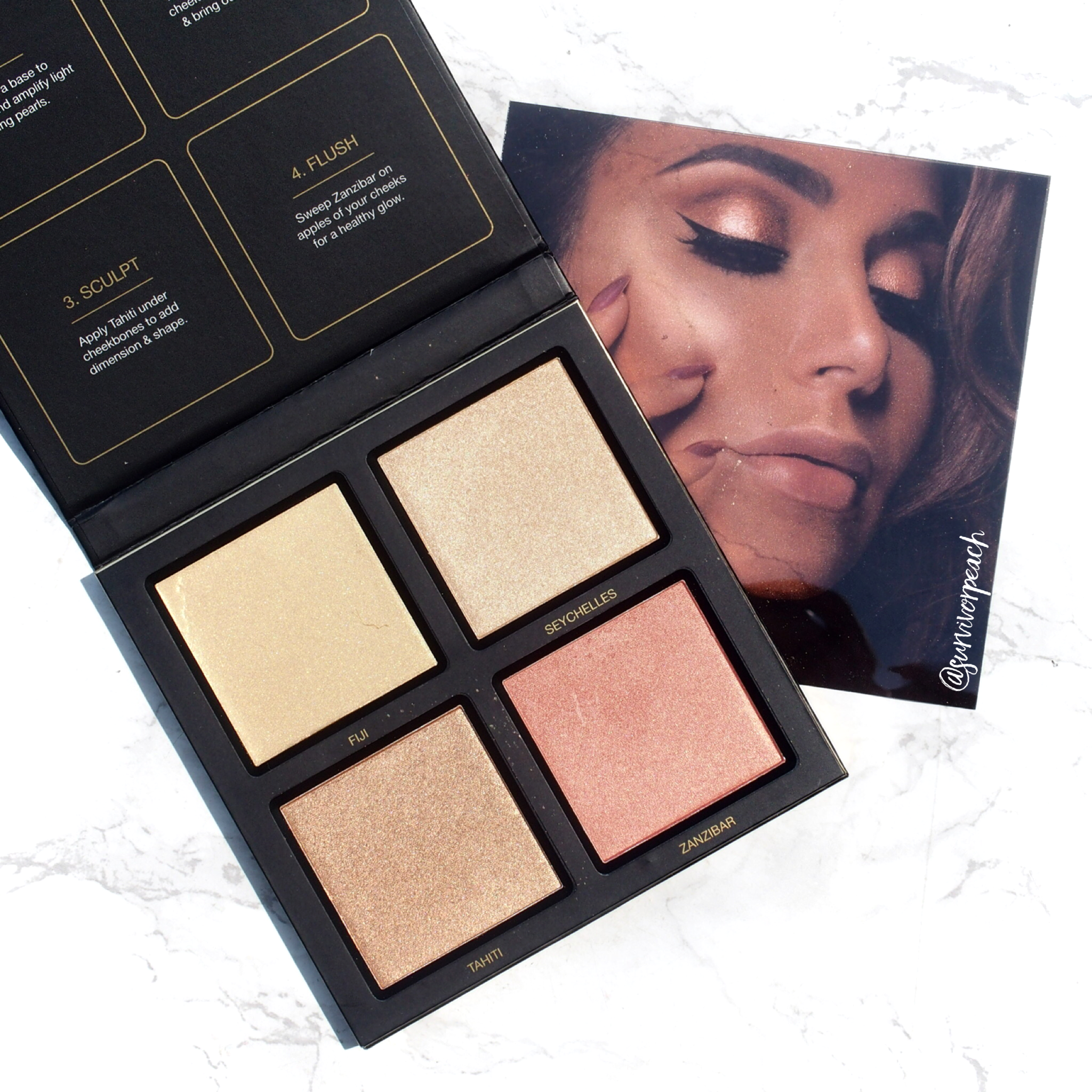 Huda Golden Sands 3D Highlighter Palette