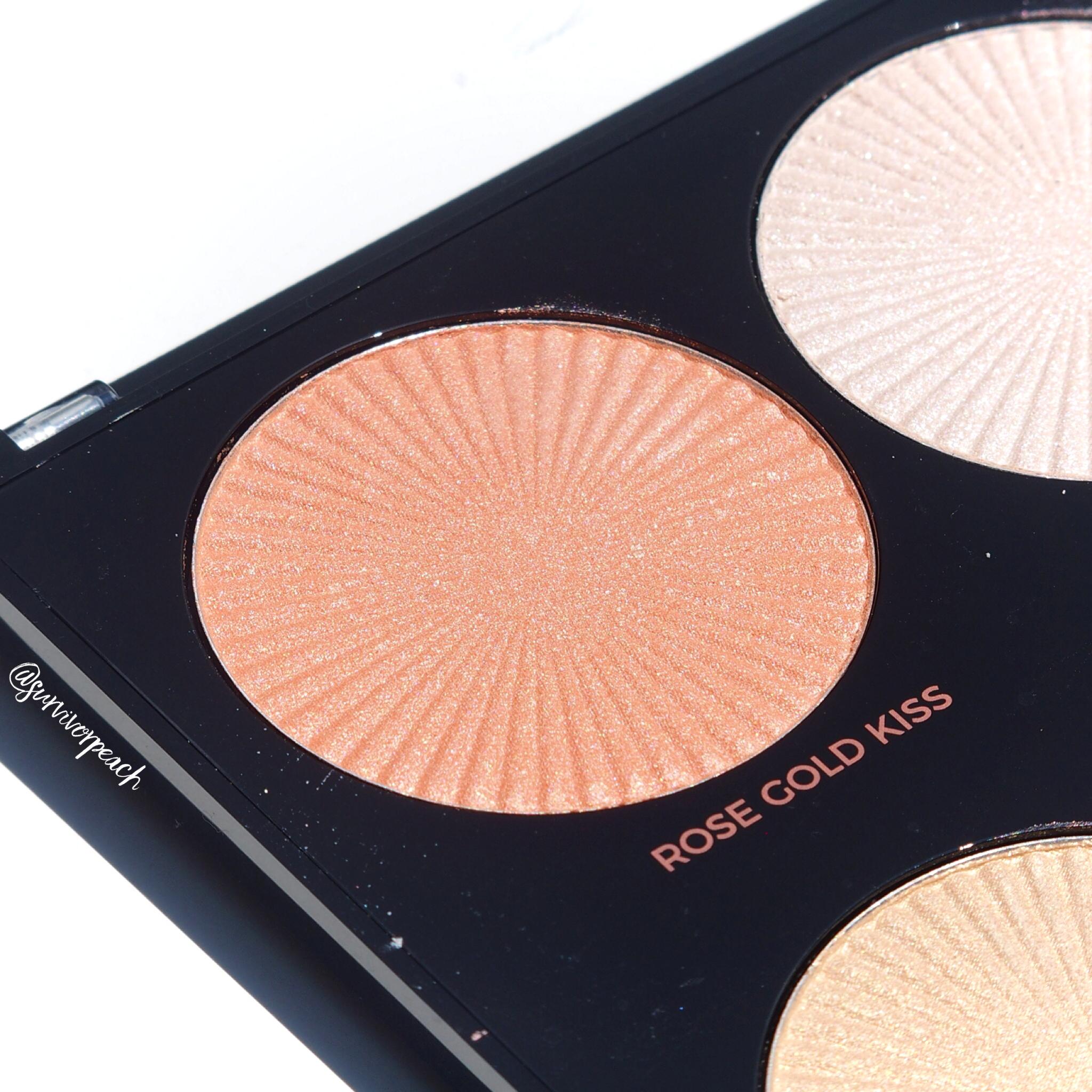Makeup Revolution Pro HD Glow Getter palette shade Rose Gold Kiss