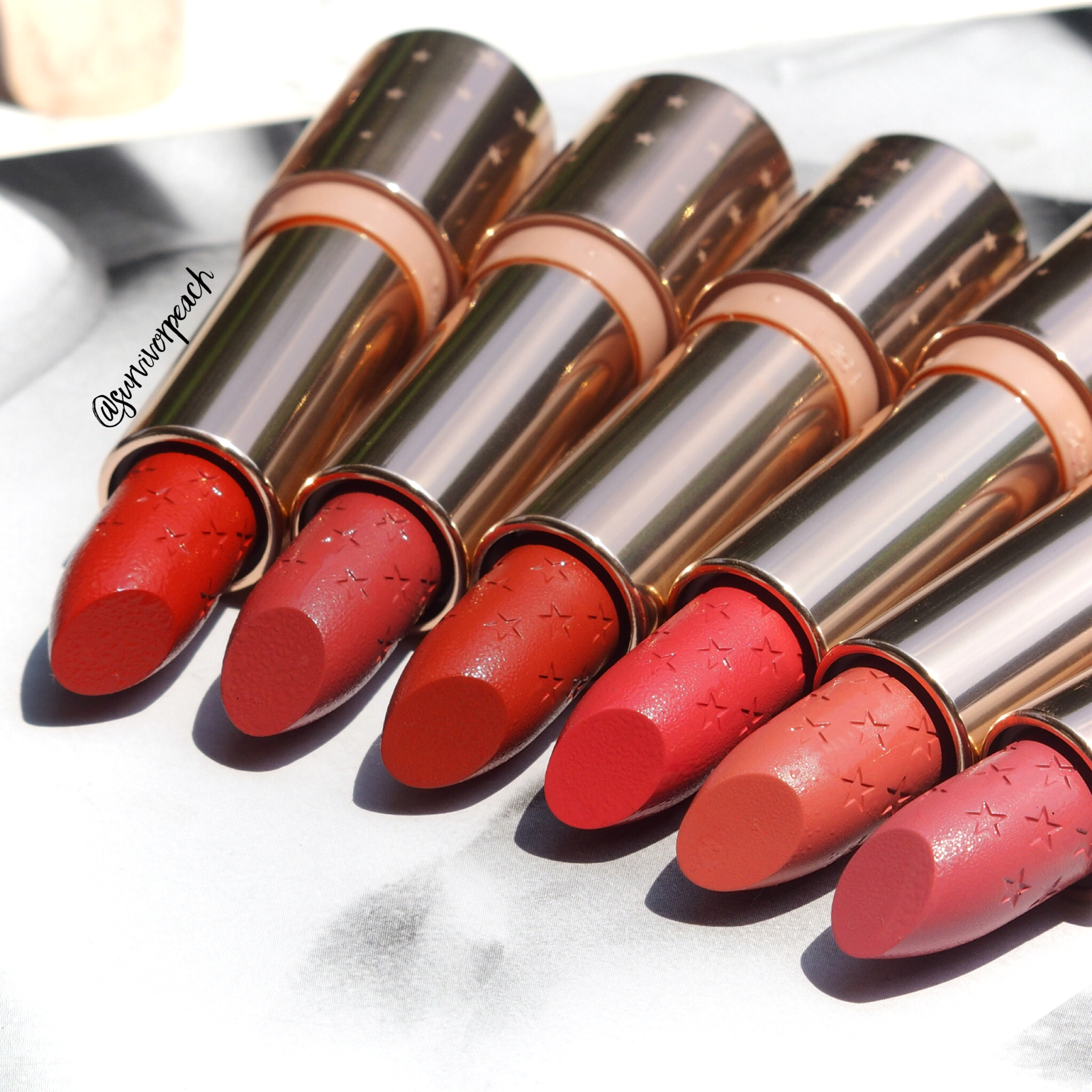 Colourpop Matte Lux lipsticks