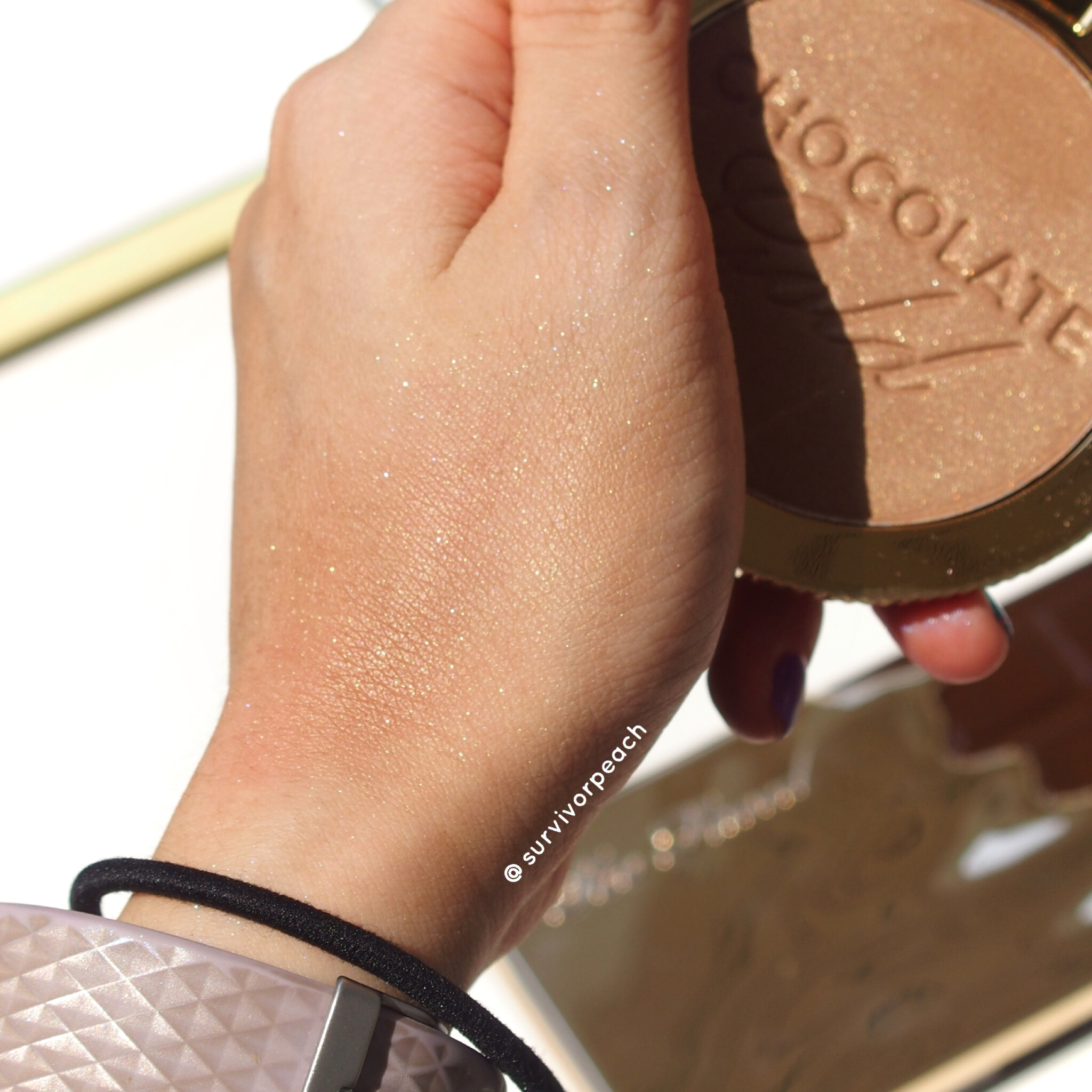 Toofaced Chocolate Gold Bronzer swatch