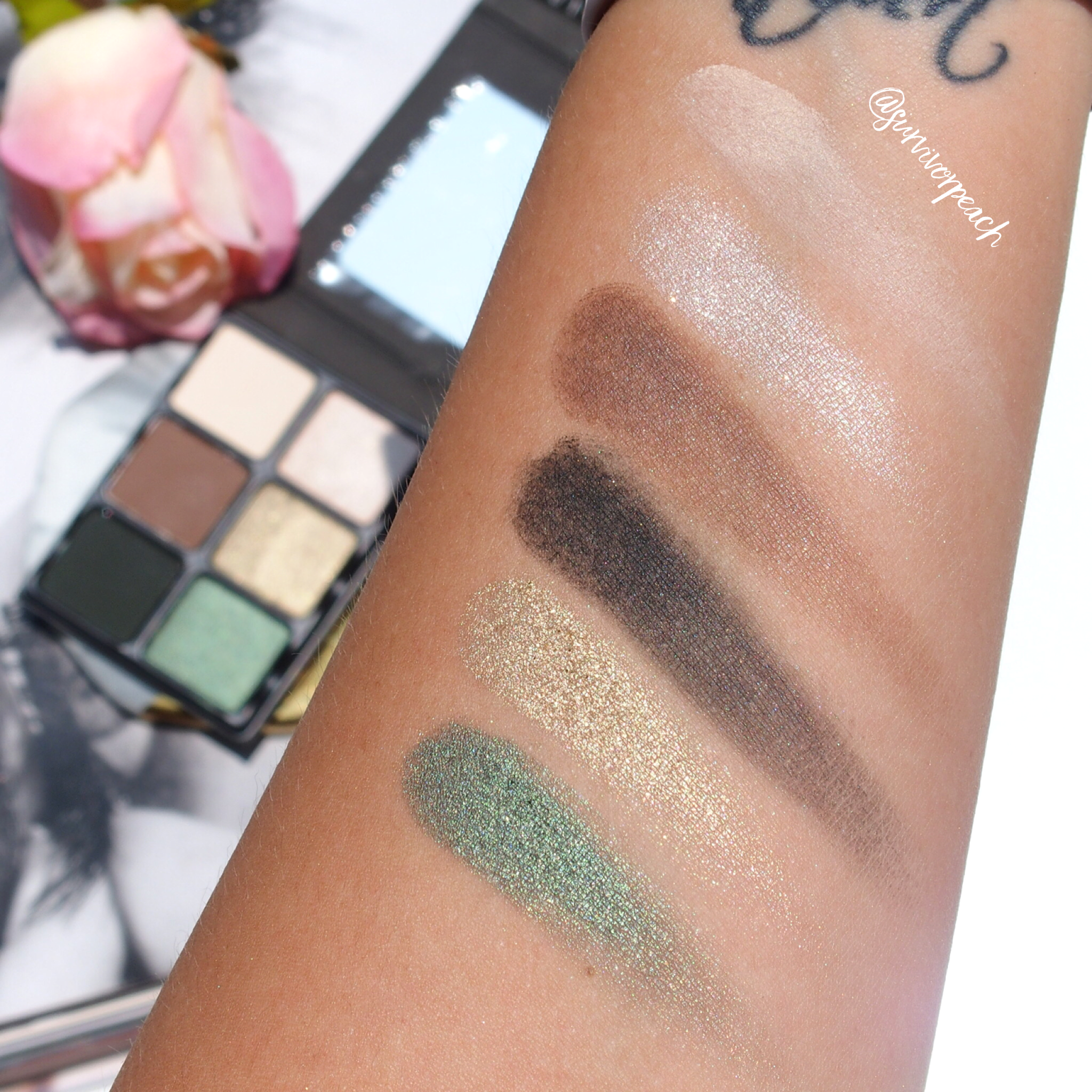 Viseart Theory palette VI Absinthe swatches