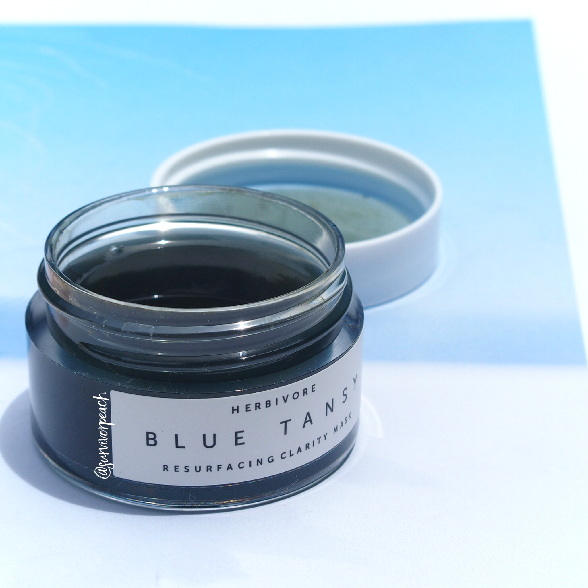 Herbivore Botanicals Blue Tansy Resurfacing Clarity Mask.
