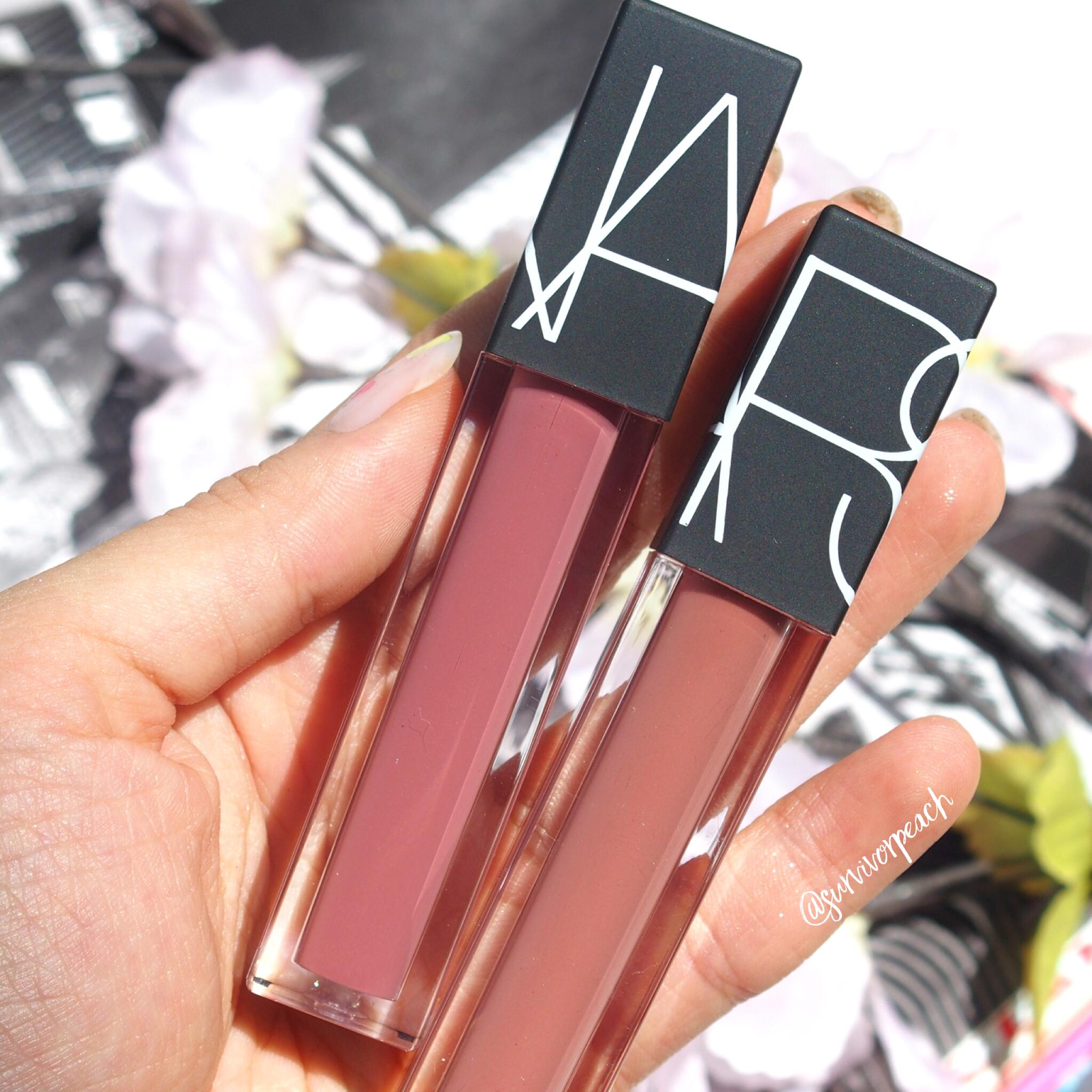 Nars Velvet Lip Glides in Xenon and Roseland