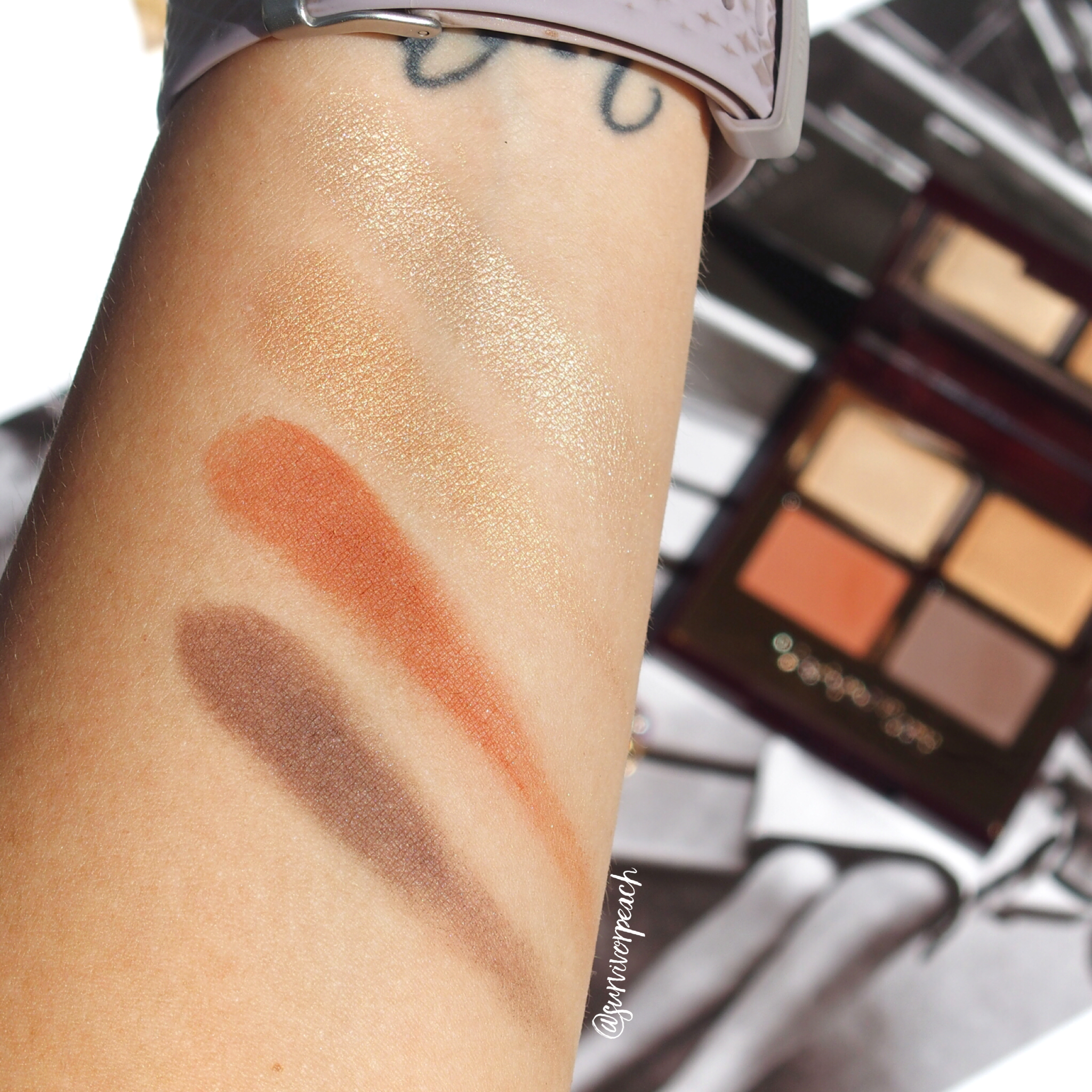 Charlotte Tilbury Transform Eyes palette swatches