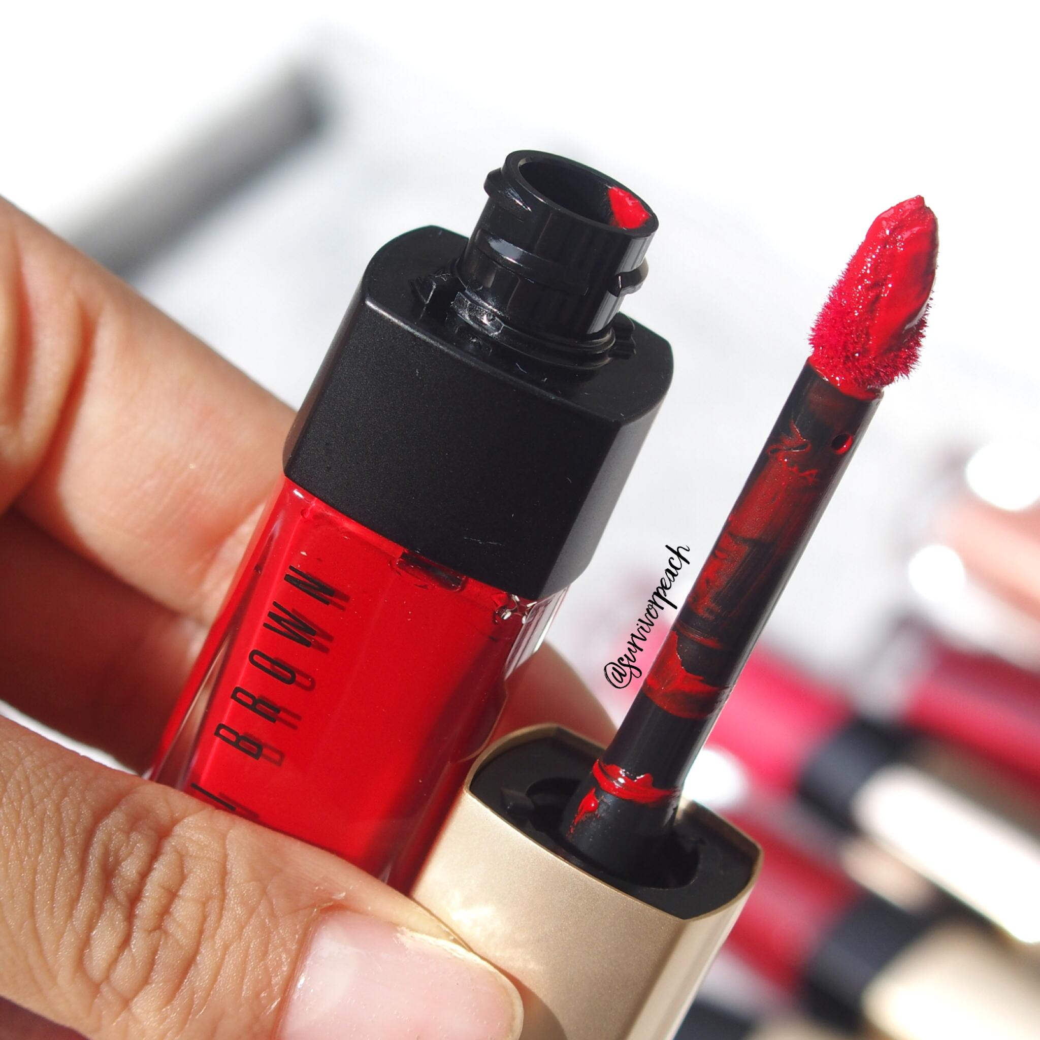 Bobbi Brown Luxe Liquid Lip Velvet Matte Lipstick Blood Orange