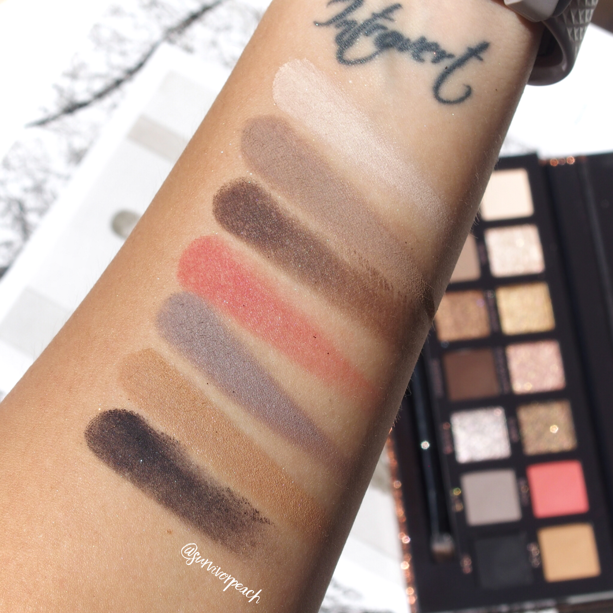 Anastasia Beverly Hills Sultry Palette swatches