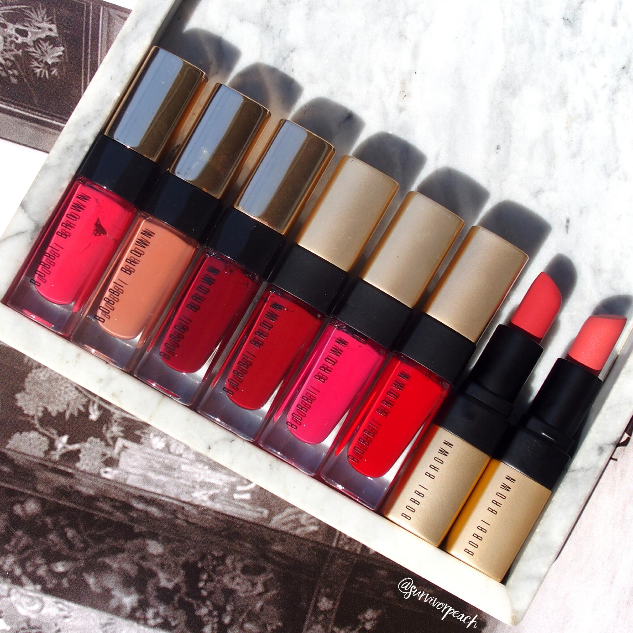 Bobbi Brown Liquid Matte, Liquid High Shine, and the Luxe Matte Lip Color