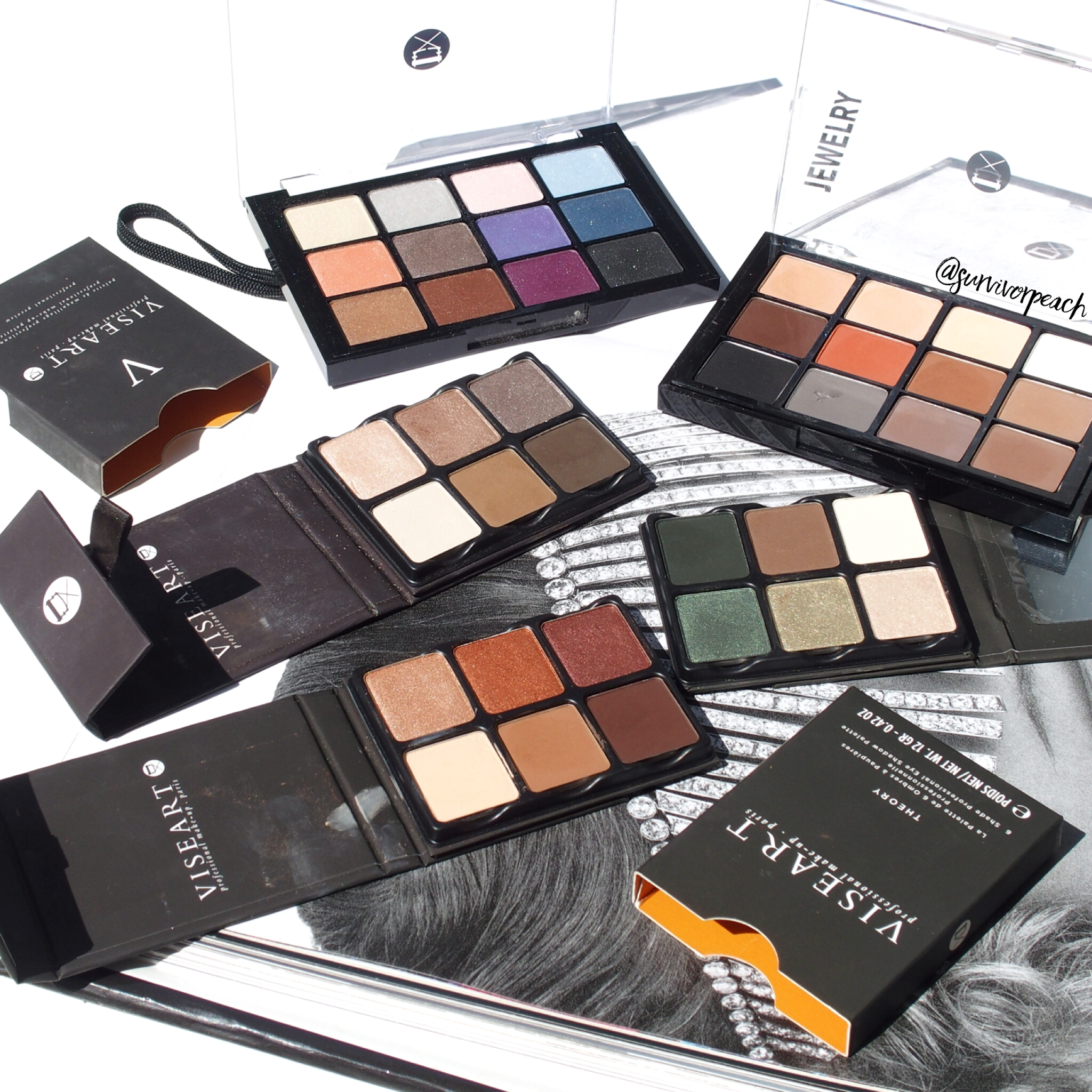 Viseart Theory palettes, Bridal Satin, Natural Matte