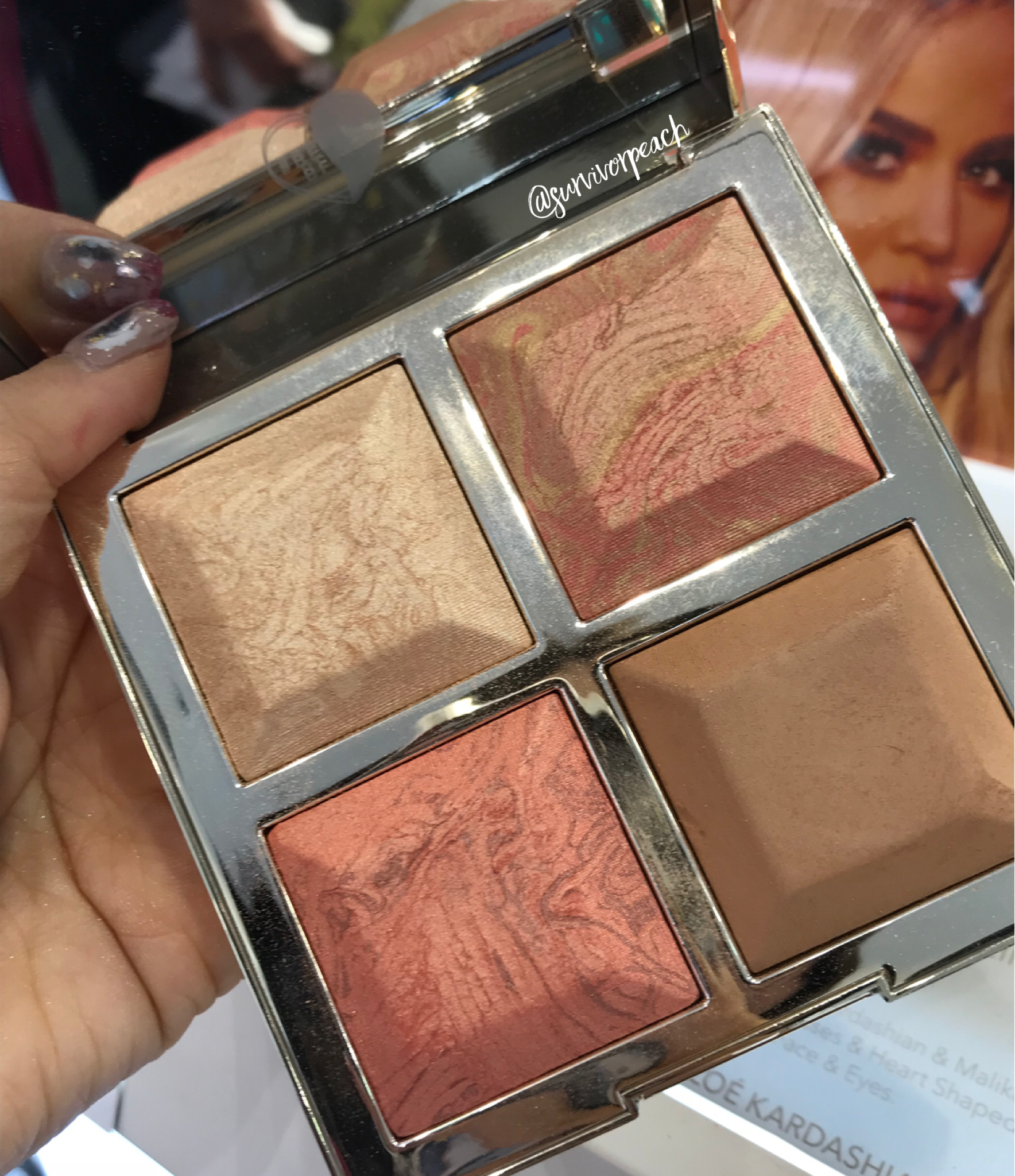 BECCA x Khloé Kardashian & Malika Haqq Bronze, Blush & Glow Palette in  Made With Love By Khloé  .