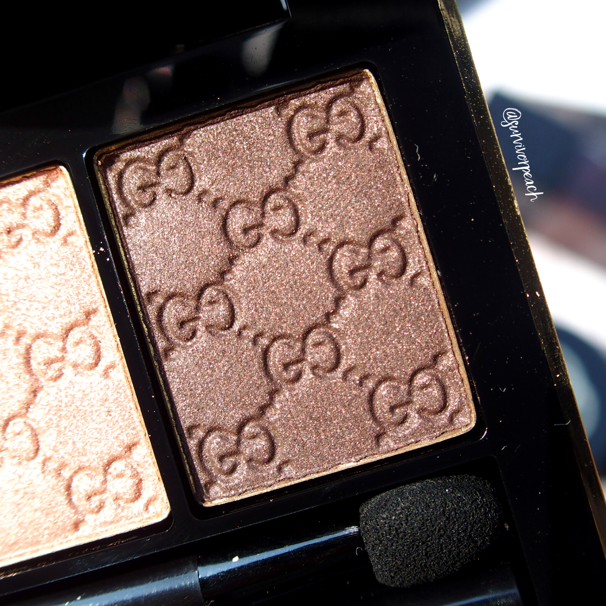 Gucci Amaretto Magnetic Color Shadow Duo - right (in sunlight)
