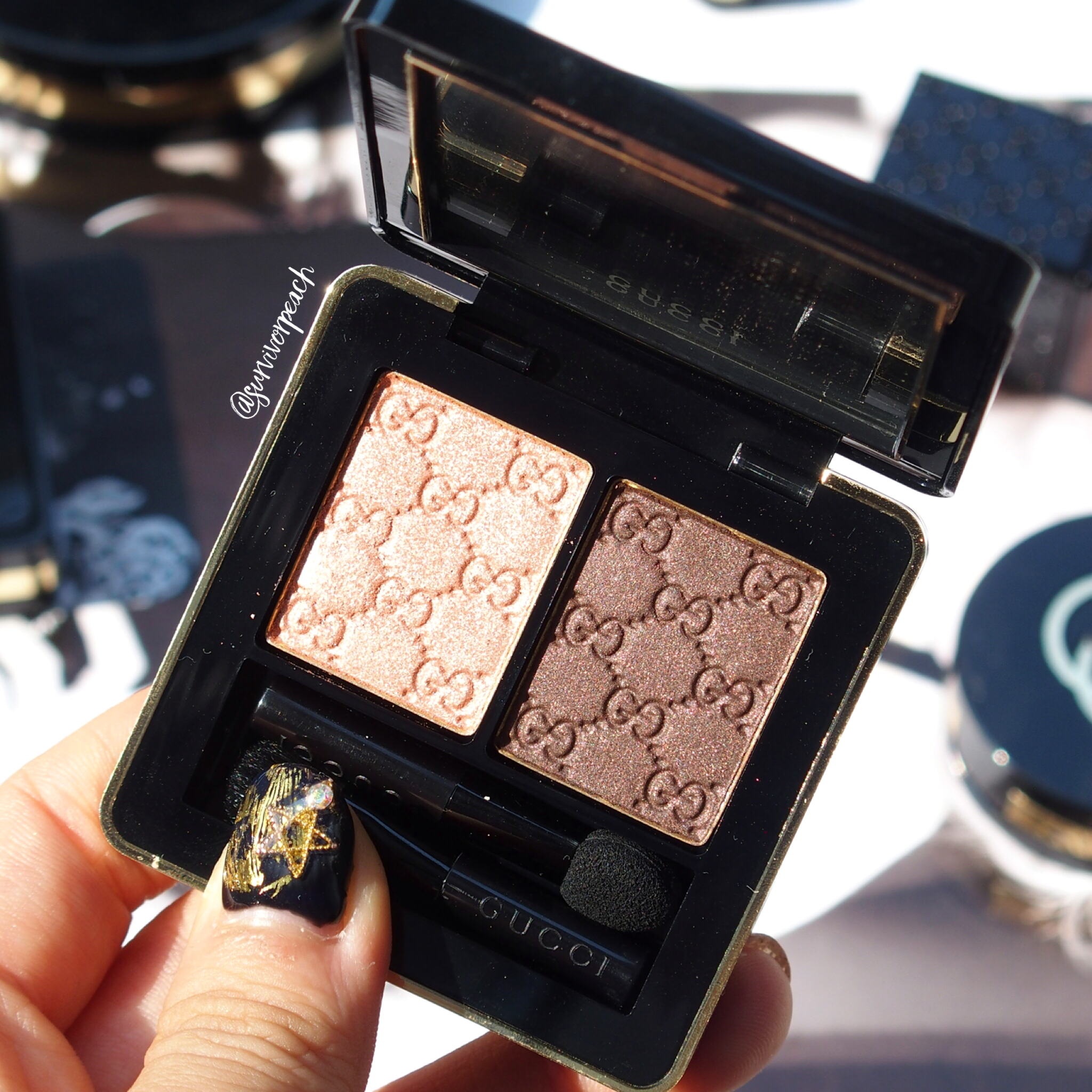 Gucci Amaretto Magnetic Color Shadow Duo (in sunlight)