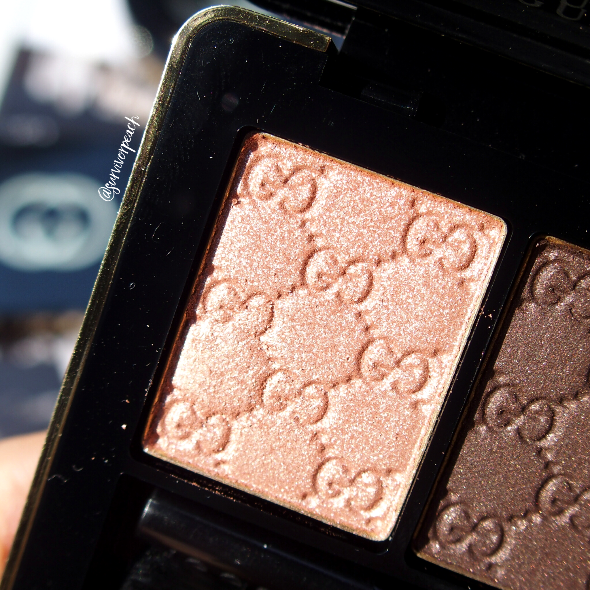 Gucci Amaretto Magnetic Color Shadow Duo - left (in sunlight)