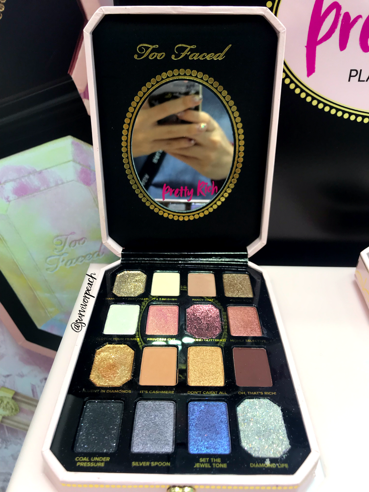 Toofaced Pretty Rich Diamond Light Eye Shadow palette