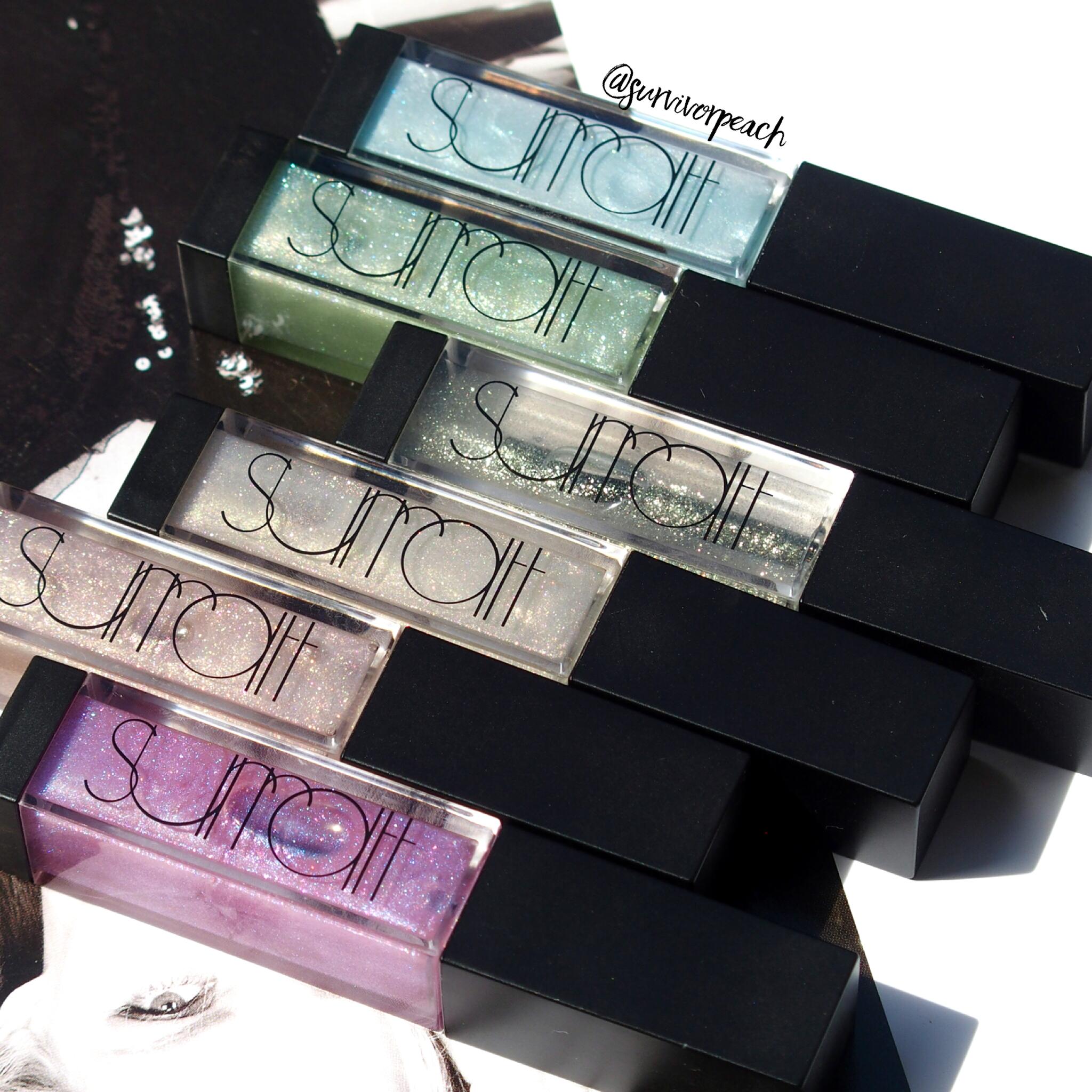 Surratt Beauty Lip Lustre in shades Je Ne Sais Quoi, Faux Pas, Etiole, Viola!, Oh La La, and Amethyst
