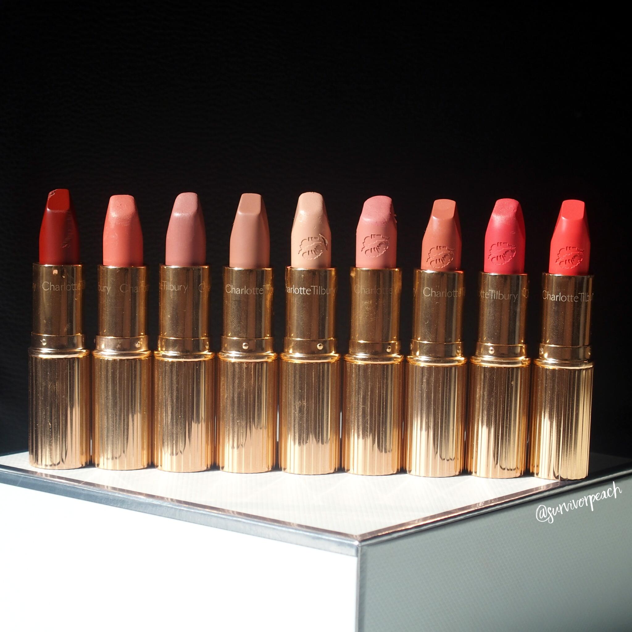 Charlotte Tilbury Matte Revolution Lipsticks + Hot Lips