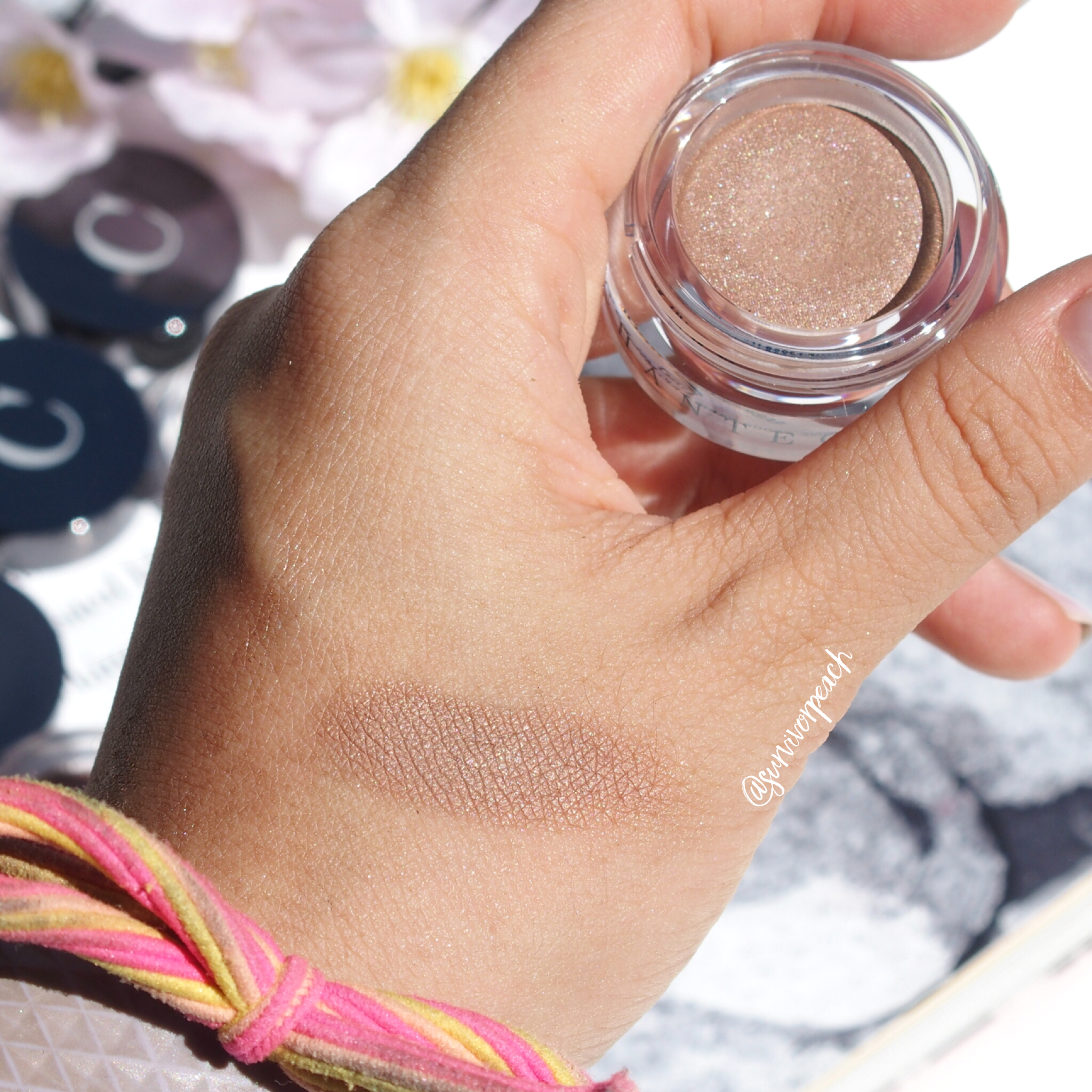 Swatches of the Chantecaille Mermaid Eye Matte - Sylvue