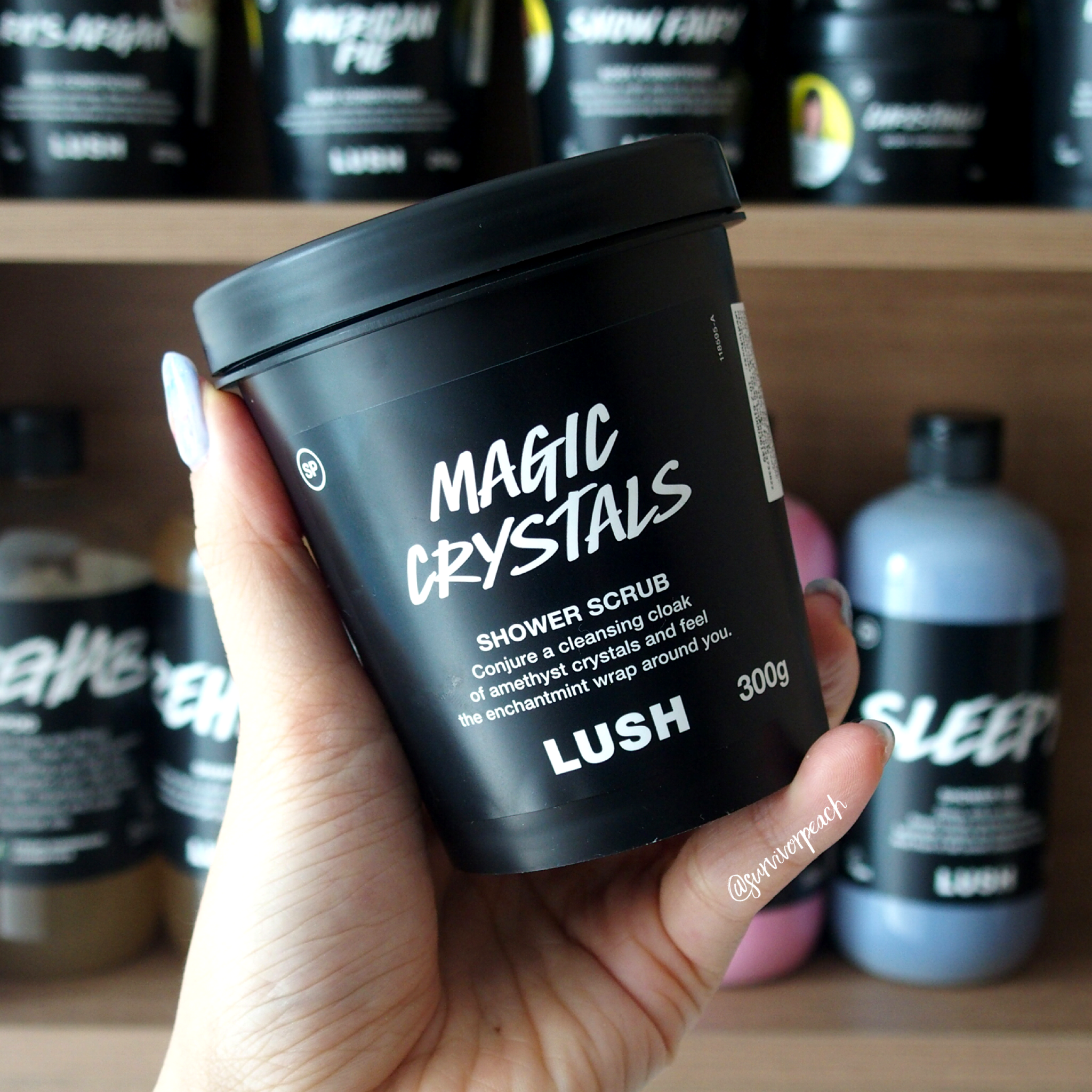 Lush Magic Crystals Shower Scrub