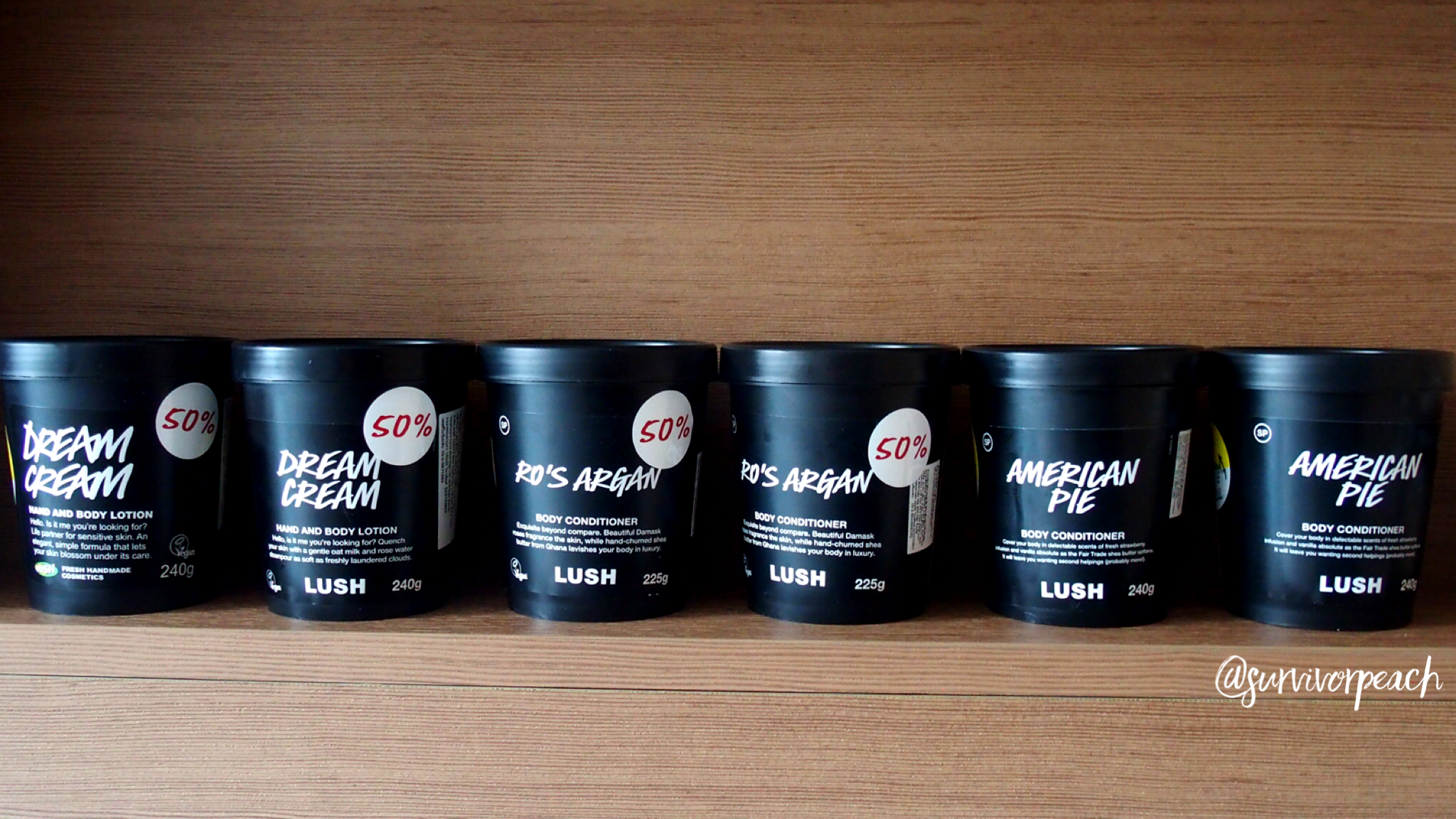 Lush Dream Cream, Ro's Argan, American Pie