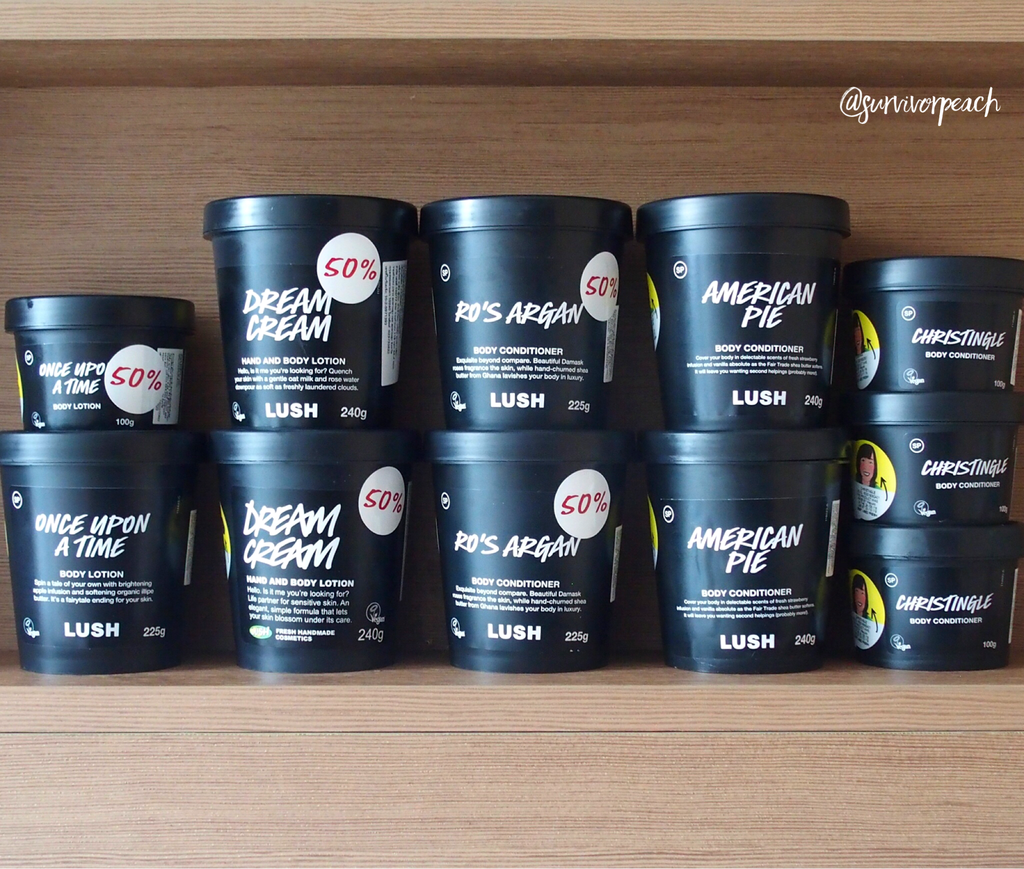Lush Body Creams and Conditioners