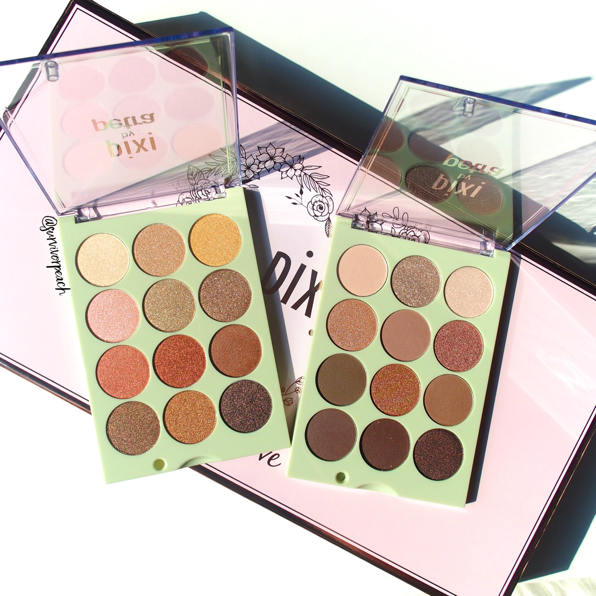 Pixi Eye Reflections Shadow palettes: Reflex Light and Natural Beauty