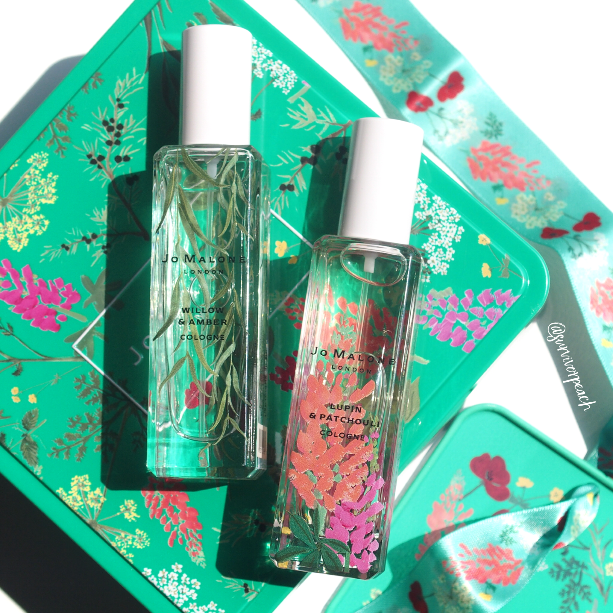 Jo Malone Wild Flowers & Weeds collection: Amber & Patchouli and Willow & Amber