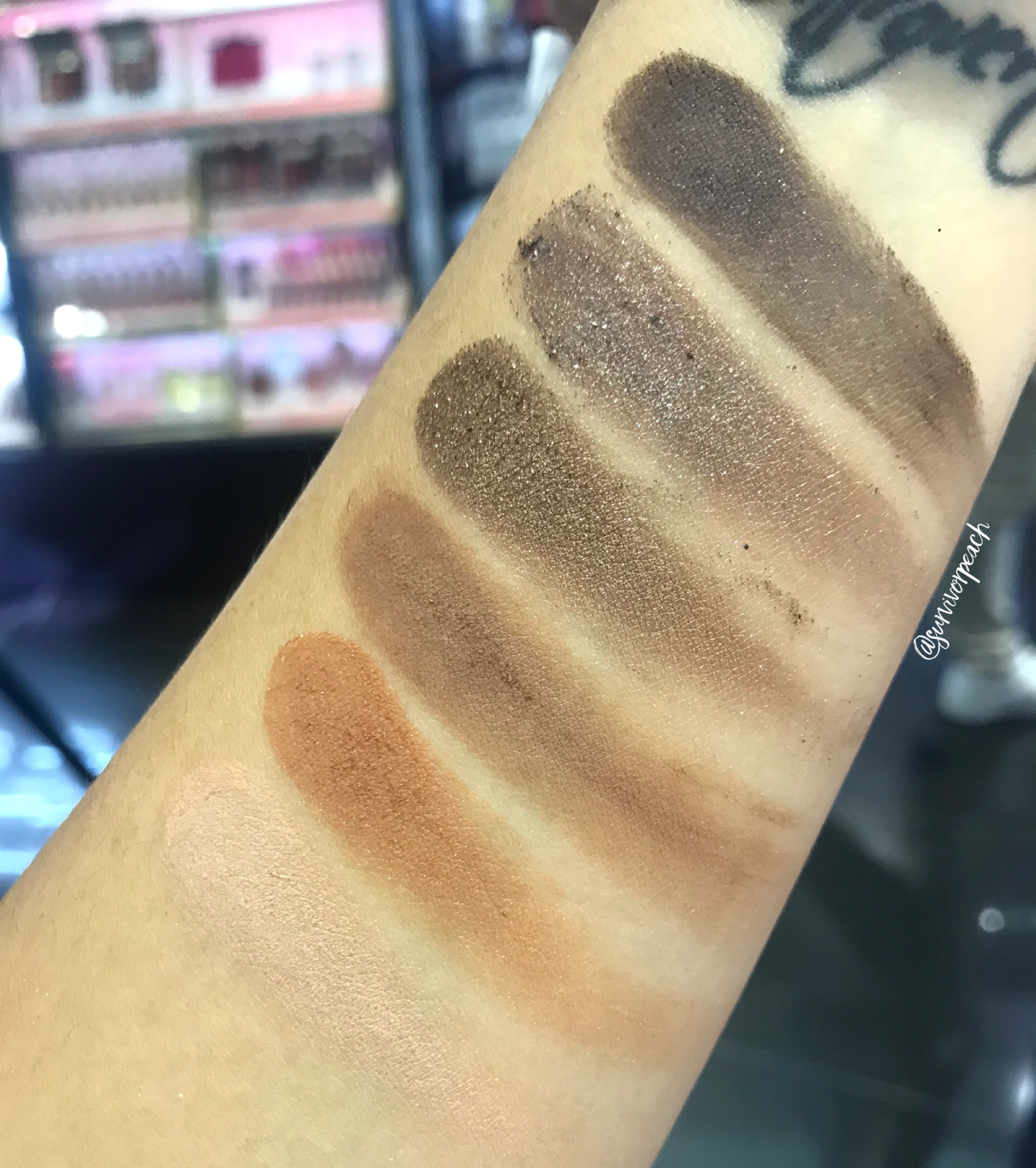 Urban Decay Naked Reloaded Palette Swatches