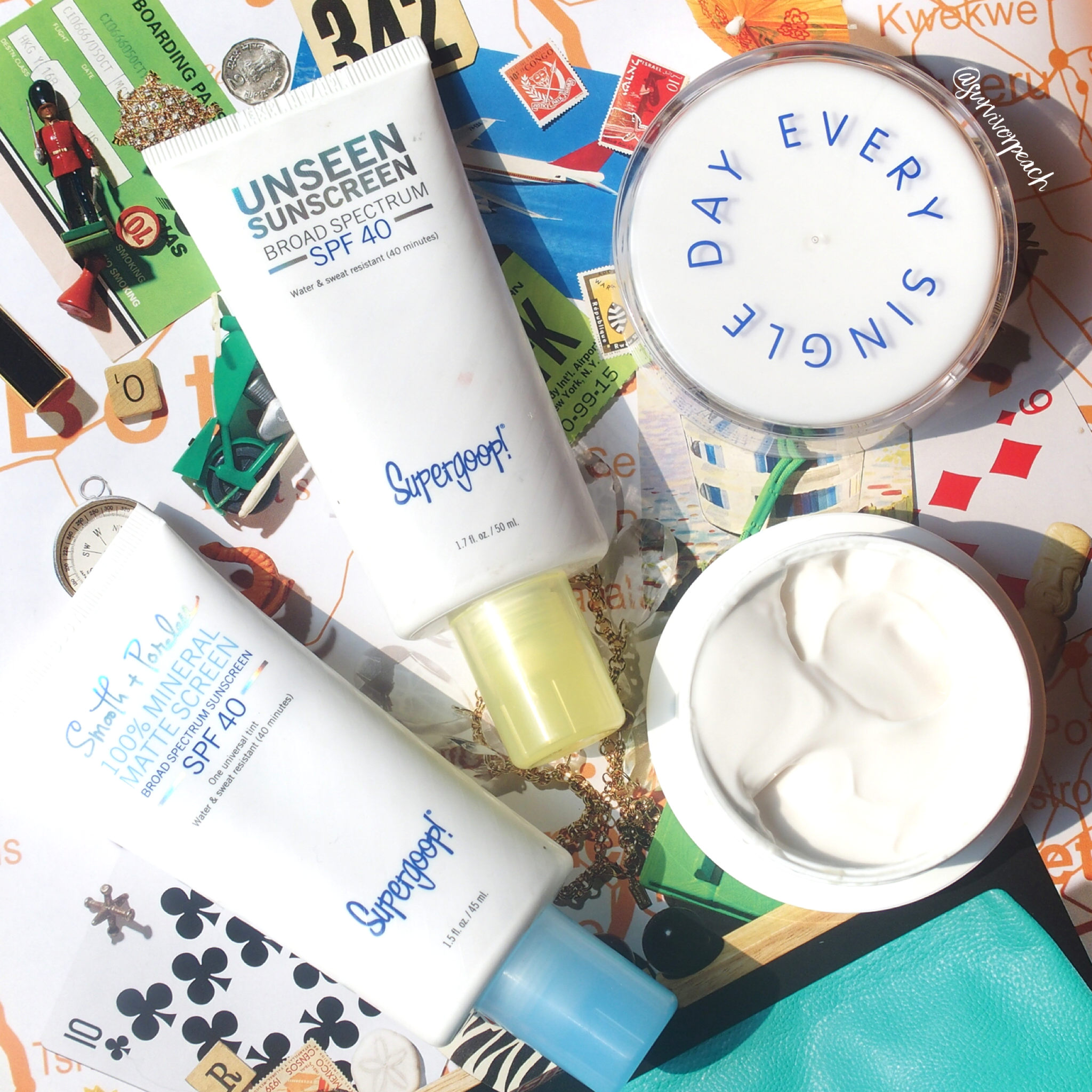 Supergoop Superscreen Daily Moisturizer and Unseen Sunscreens