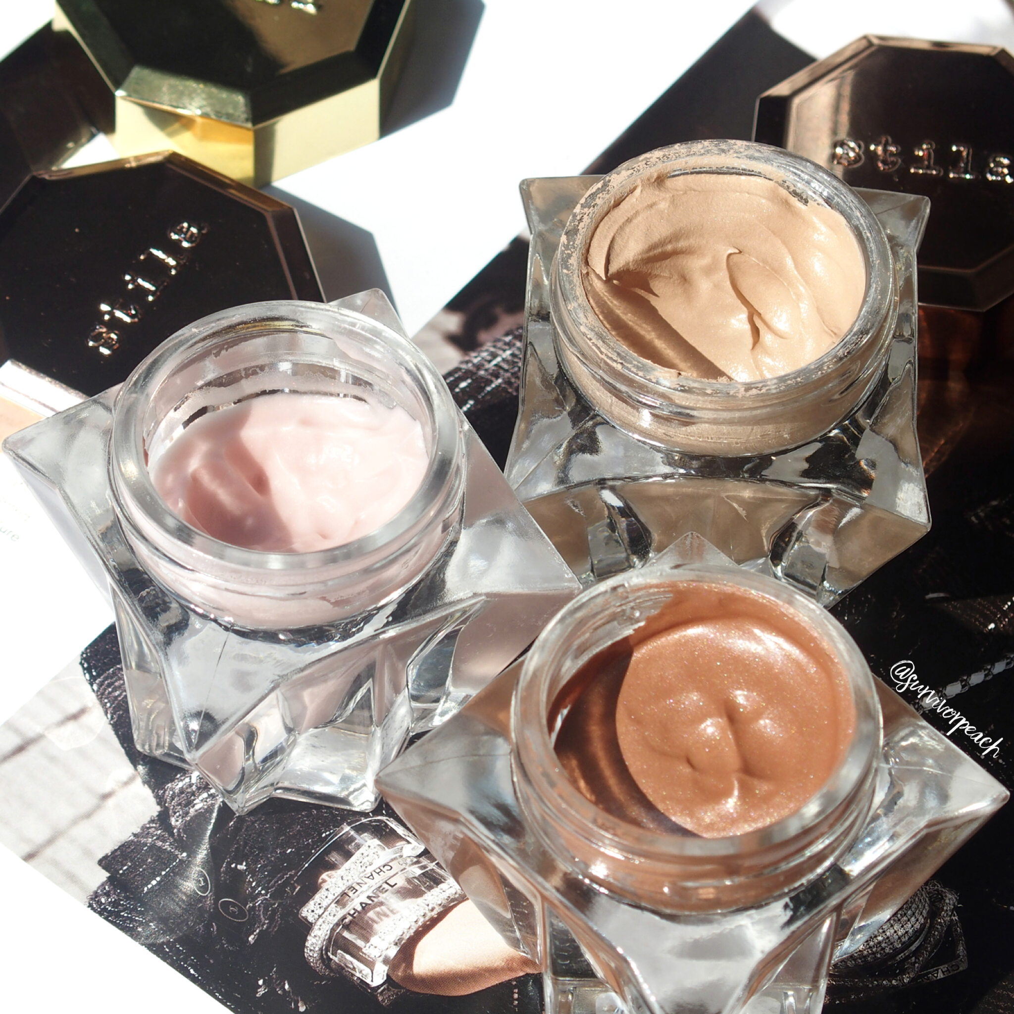 Stila Lingerie Soufflé Skin Perfecting Color and Perfecting Primers- Sheer Illumination and Sunkissed